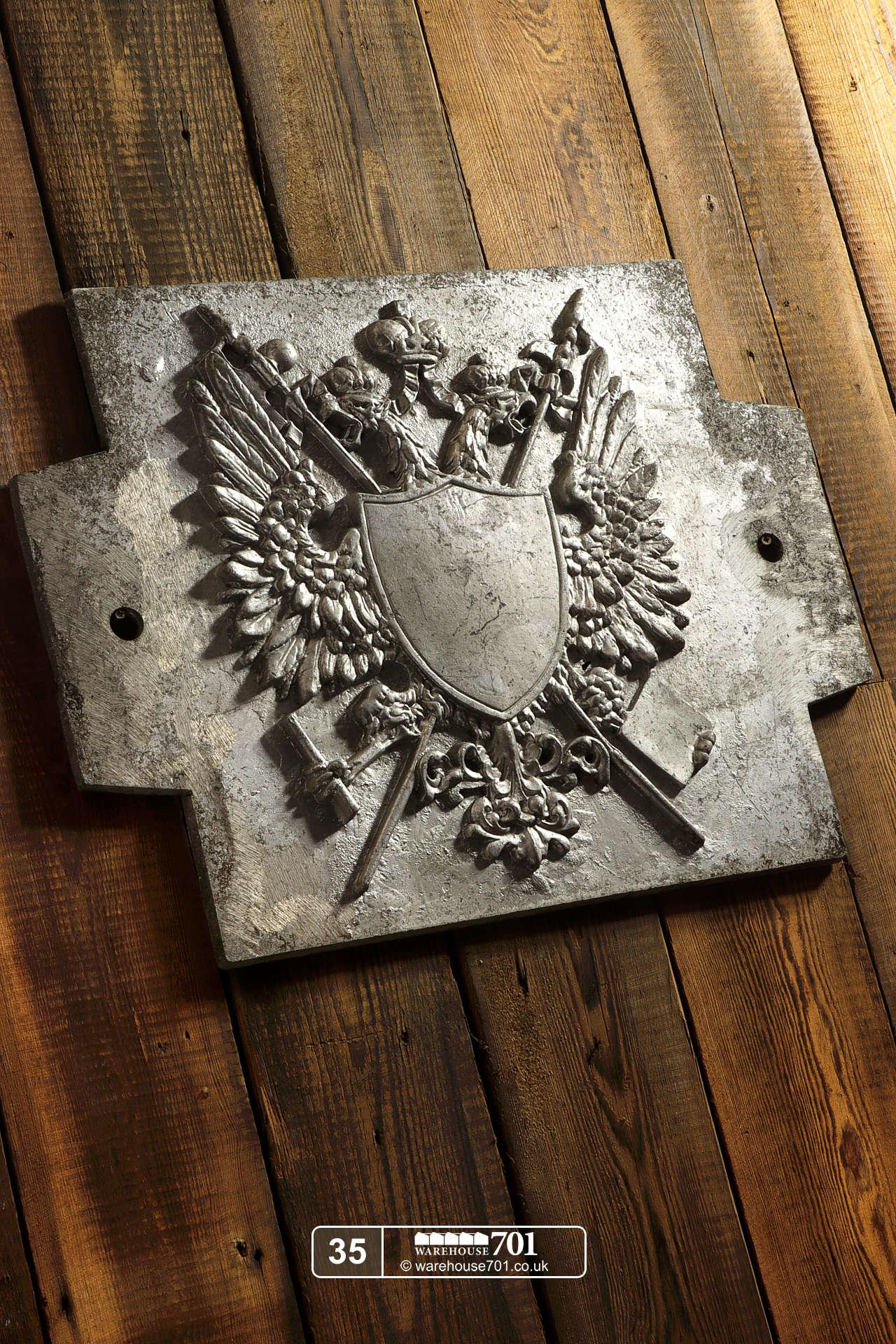 Aluminium Foundry Castings of Heraldic Crests (No's 35, 36, 37) for Shop, Retail and Home Display