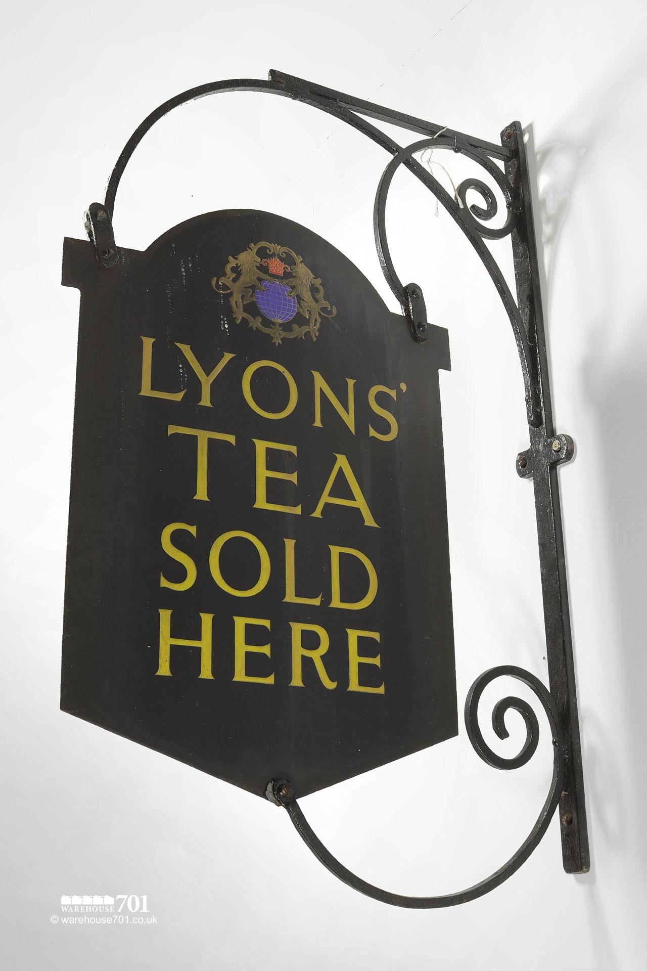 Authentic Double-Sided Lyons' Tea Projecting Hanging Wall Sign #4