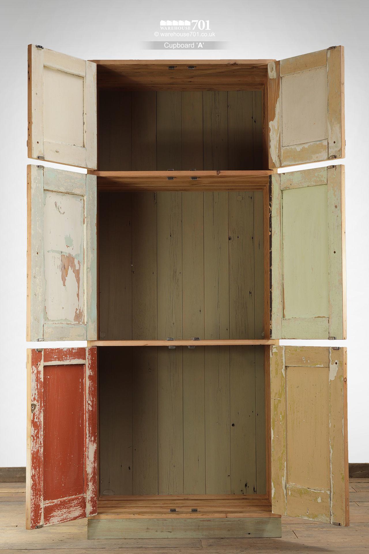Country Kitchen Six Door Storage Cupboards