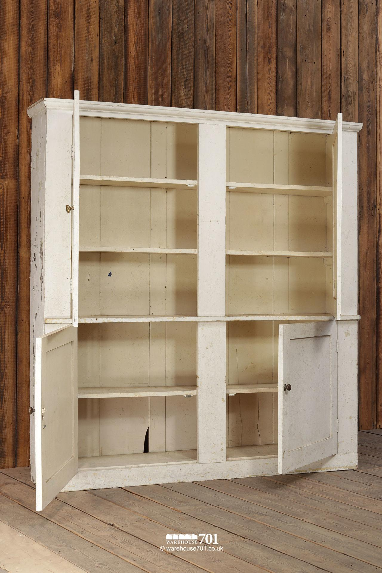Very Large Reclaimed White Painted Butlers, Linen or Pot Cupboard #1