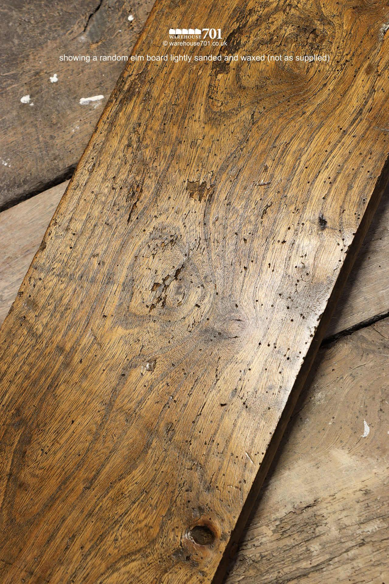 Beautiful Authentic 18th Century Elm Plank Flooring