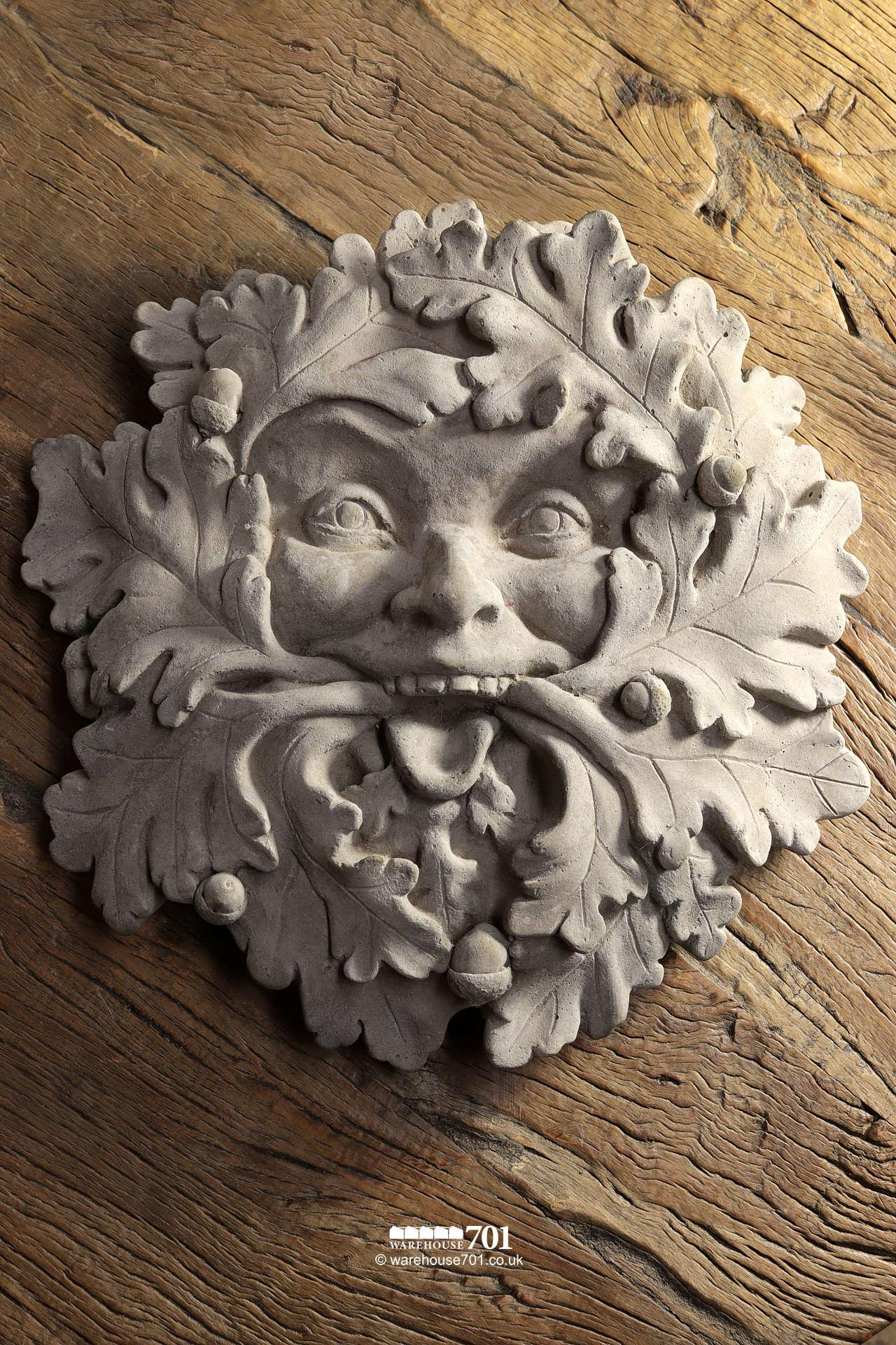 New Cast Stone The Green Man Garden Ornamant