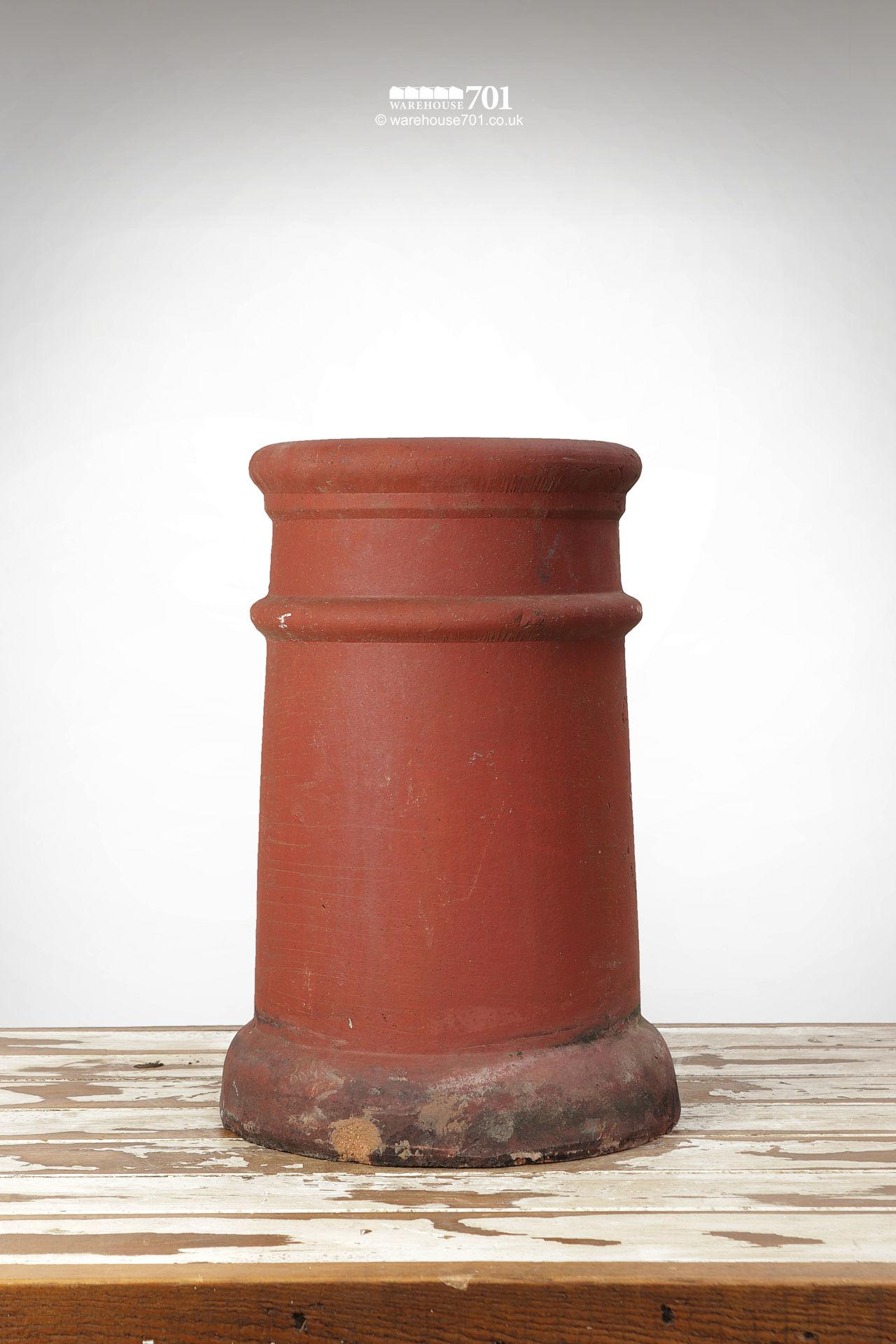 Fine Old Pair of Ribbed Red Terracotta Chimney Pots #2