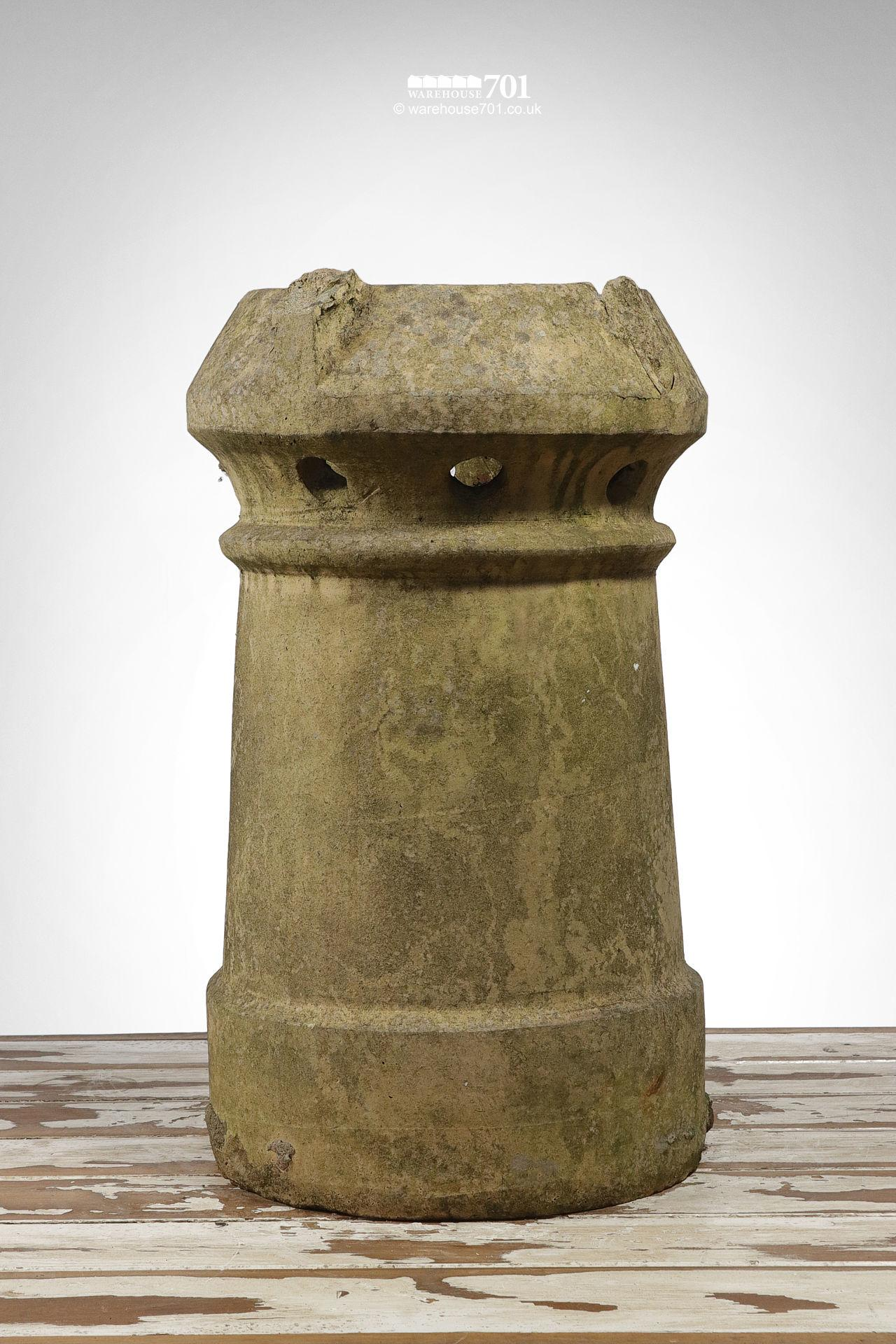 Old Buff Colour Perforated Cannon Chimney Pot #3
