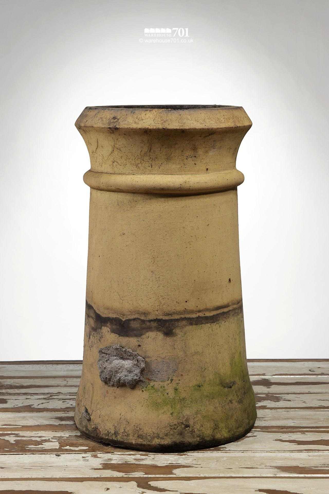 Reclaimed Tapered Buff Cannon Chimney Pot #2