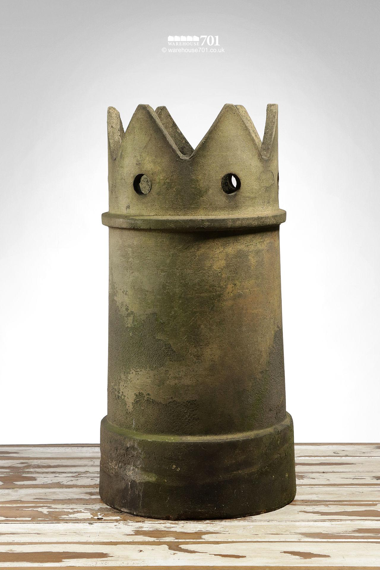 Salvaged George Skey Crown Chimney Pot