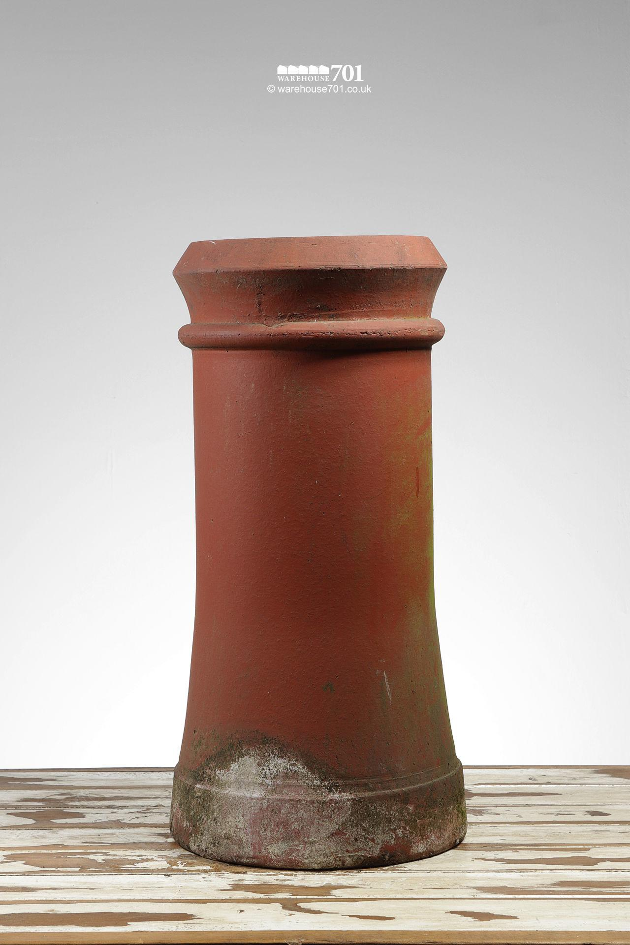 Salvaged Semi-Tapered Canon Pattern Chimney Pot #2