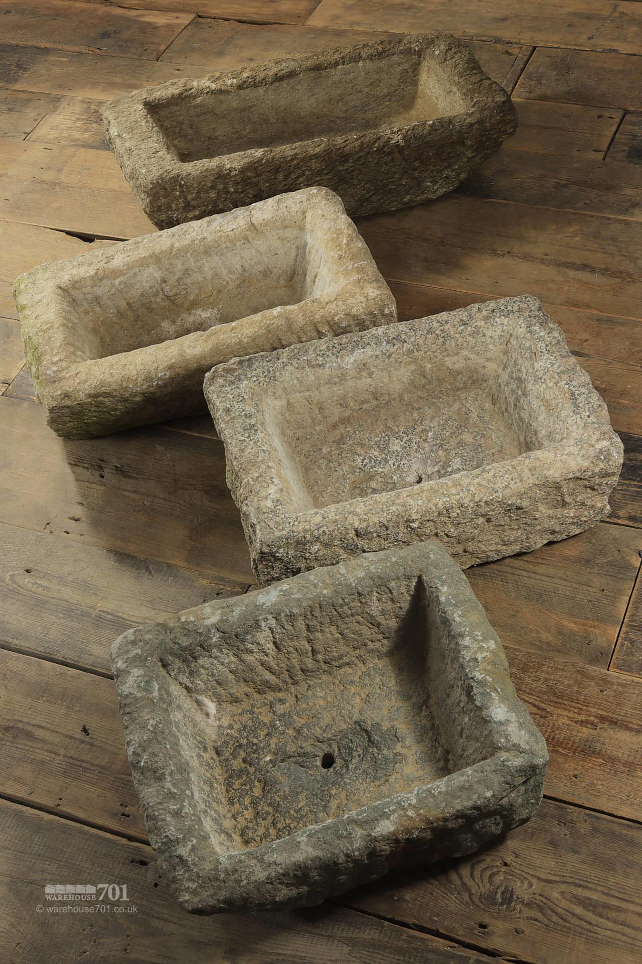 Small Stone Garden Planters or Troughs #3