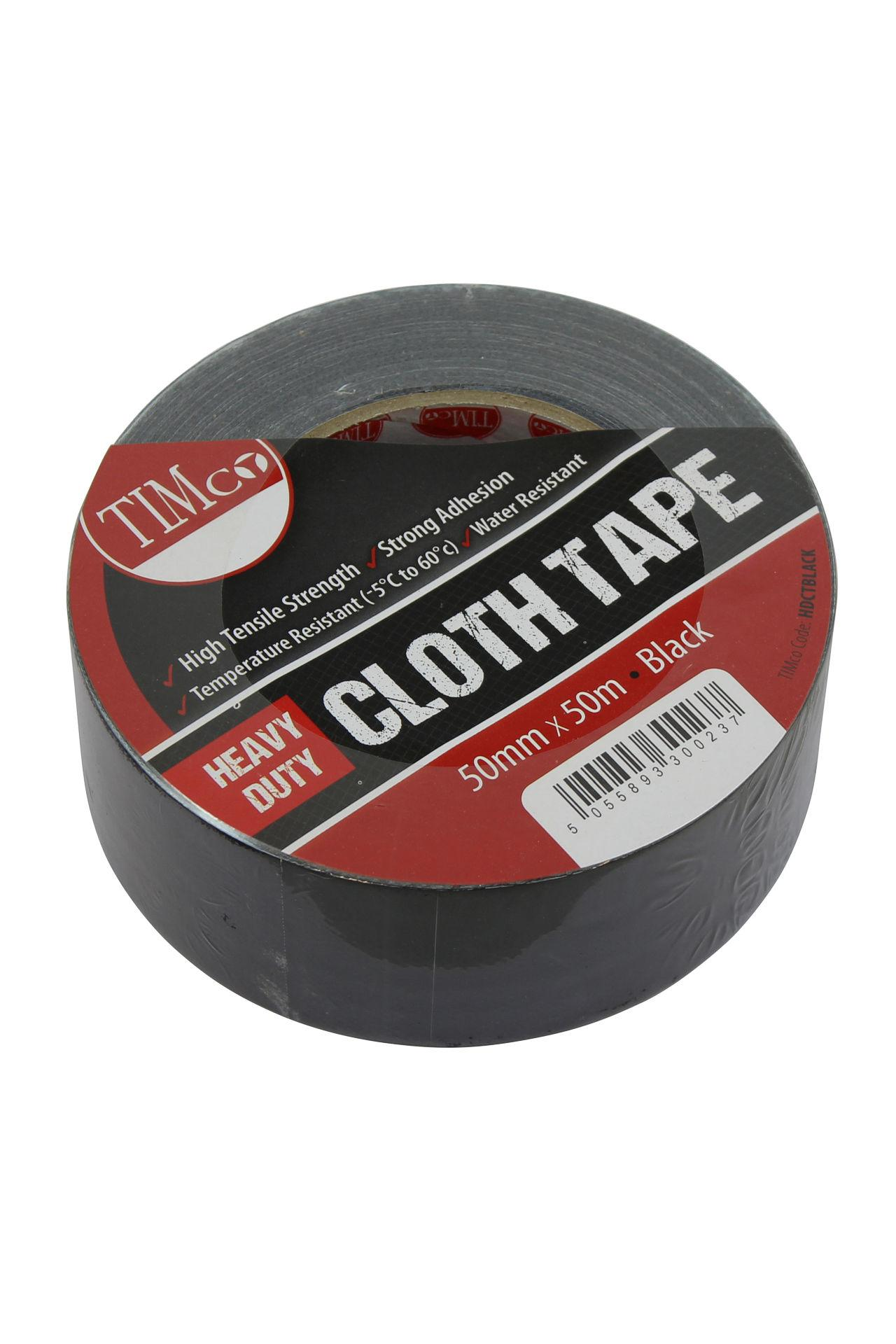 Heavy Duty Cloth Tape - Black