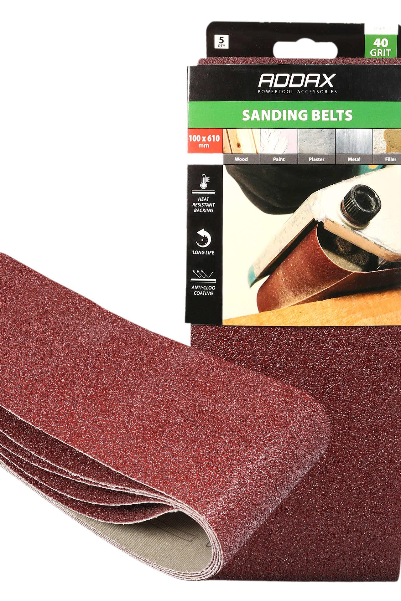 Addax Sanding Belts - Various Grit - Red