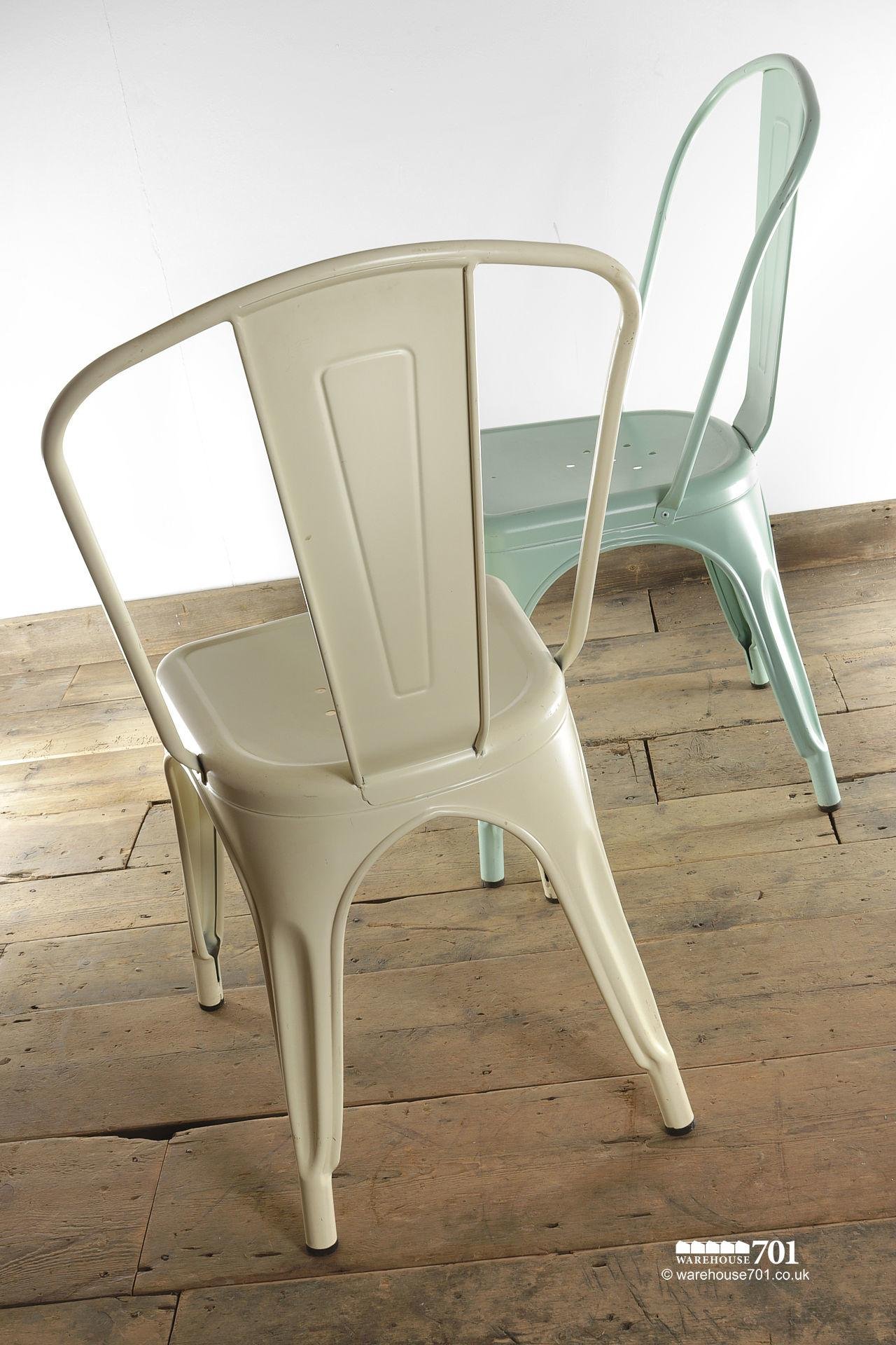 NEW model 'A' Tolix Style Stackable Pressed Metal Coloured Chair #3