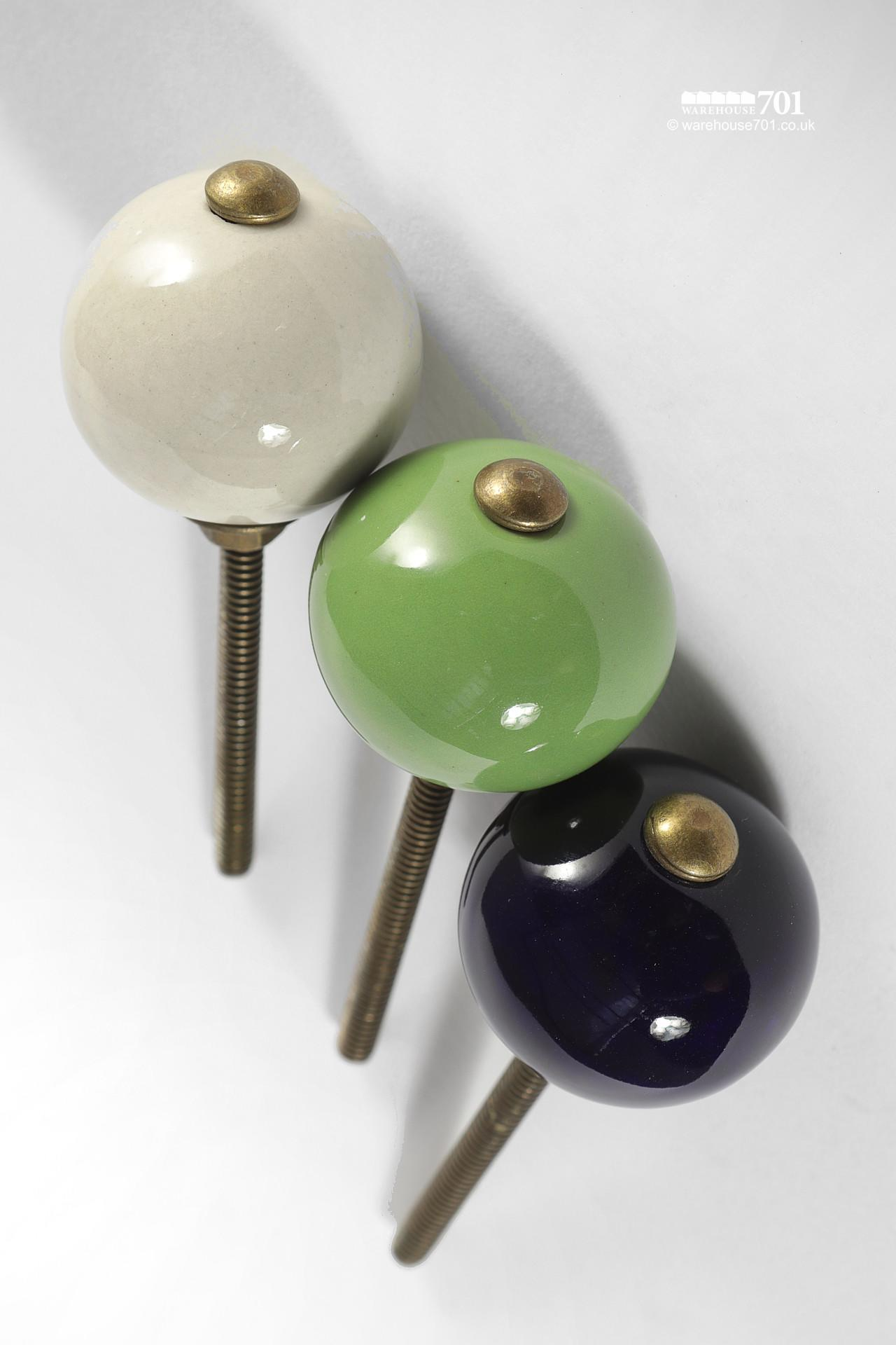 New Colored Ceramic Door or Drawer Knob