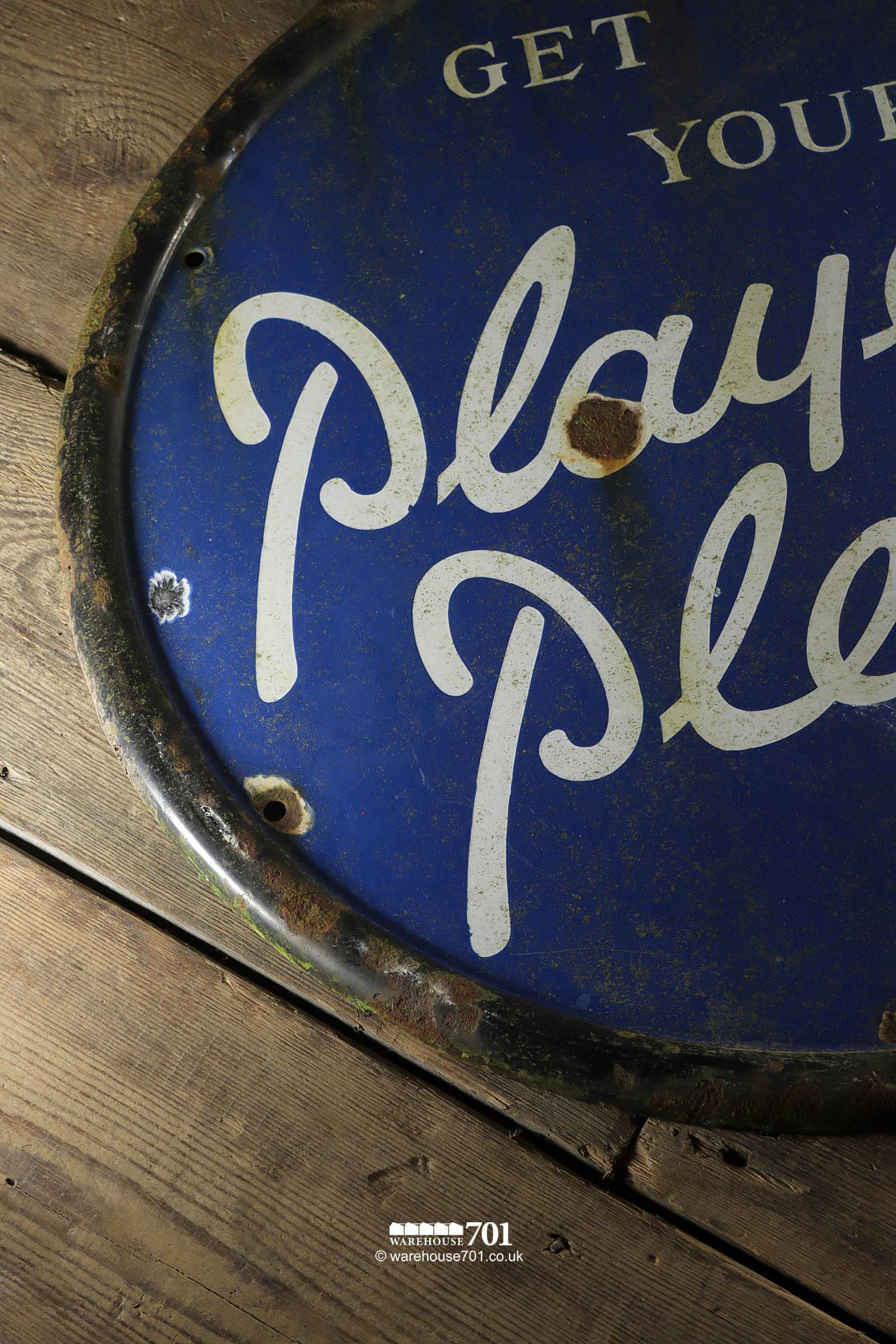 Reclaimed Round Metal Players Please Sign #3