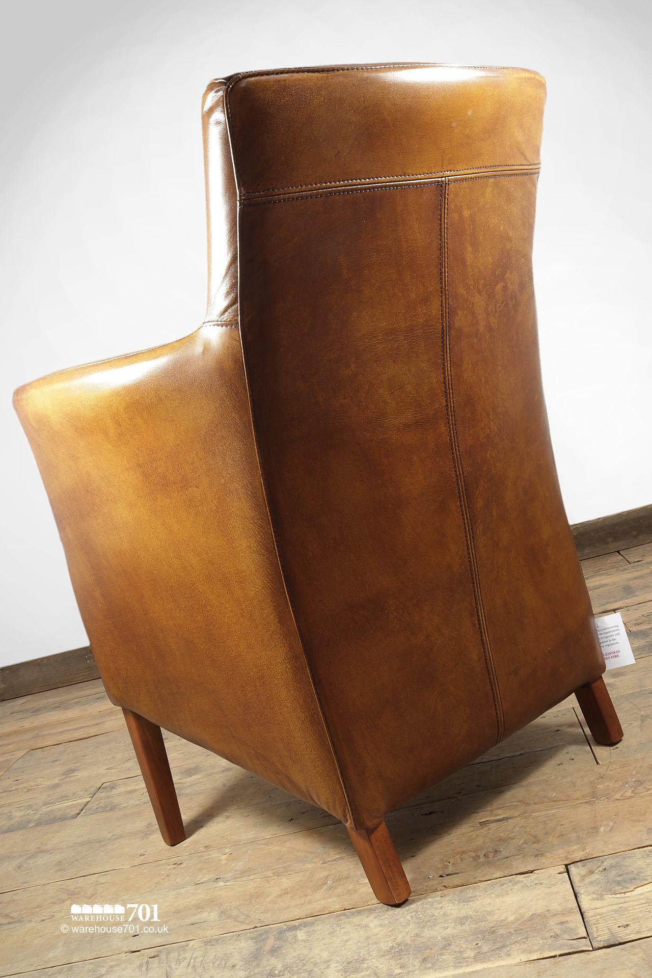NEW Stylish and Sumptuous Compact Stitched Leather Armchair #5