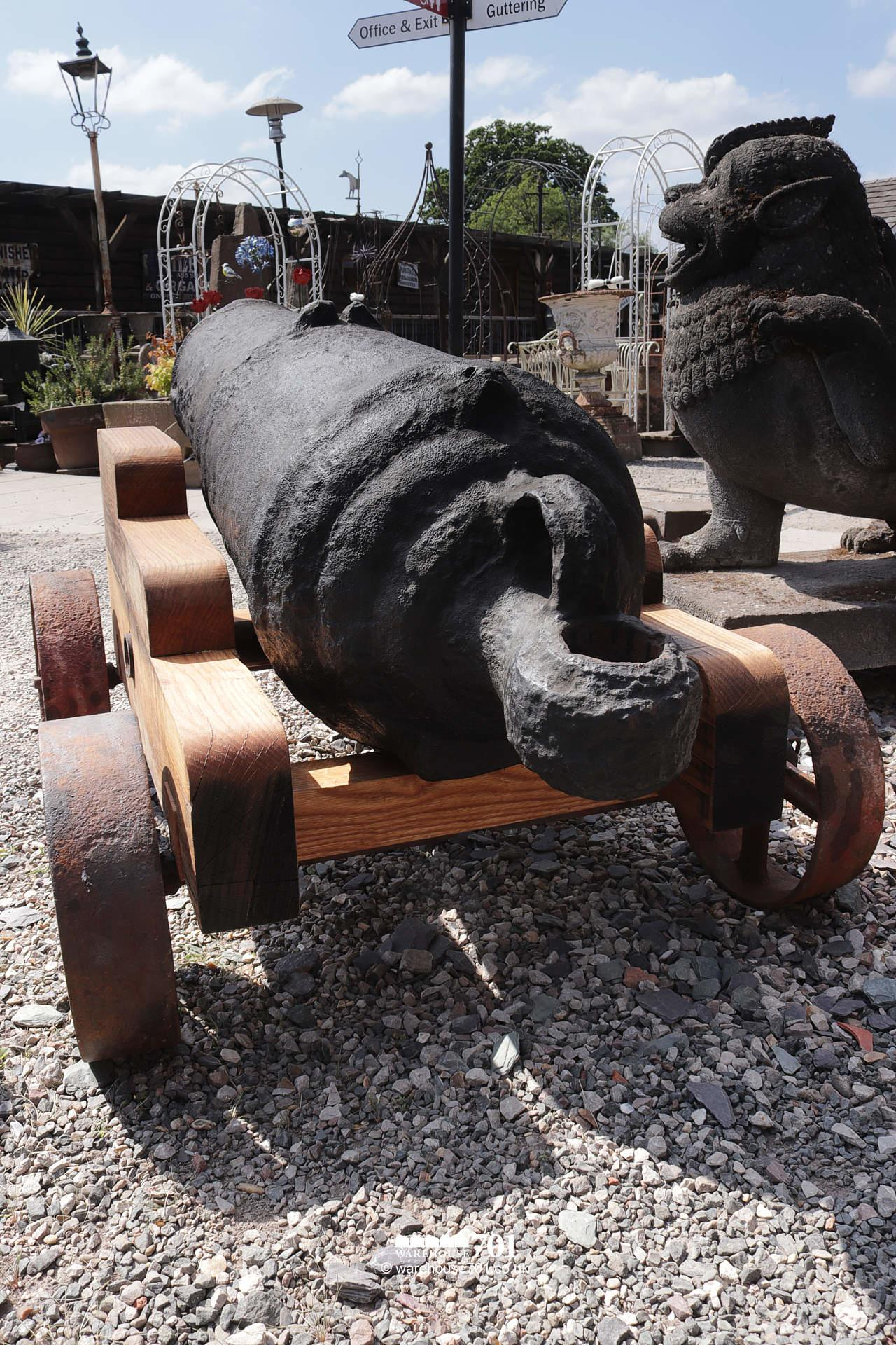 Fabulous Large Ocean-Salvaged Maritime 69lb Carronade Cannon on Carriage #4