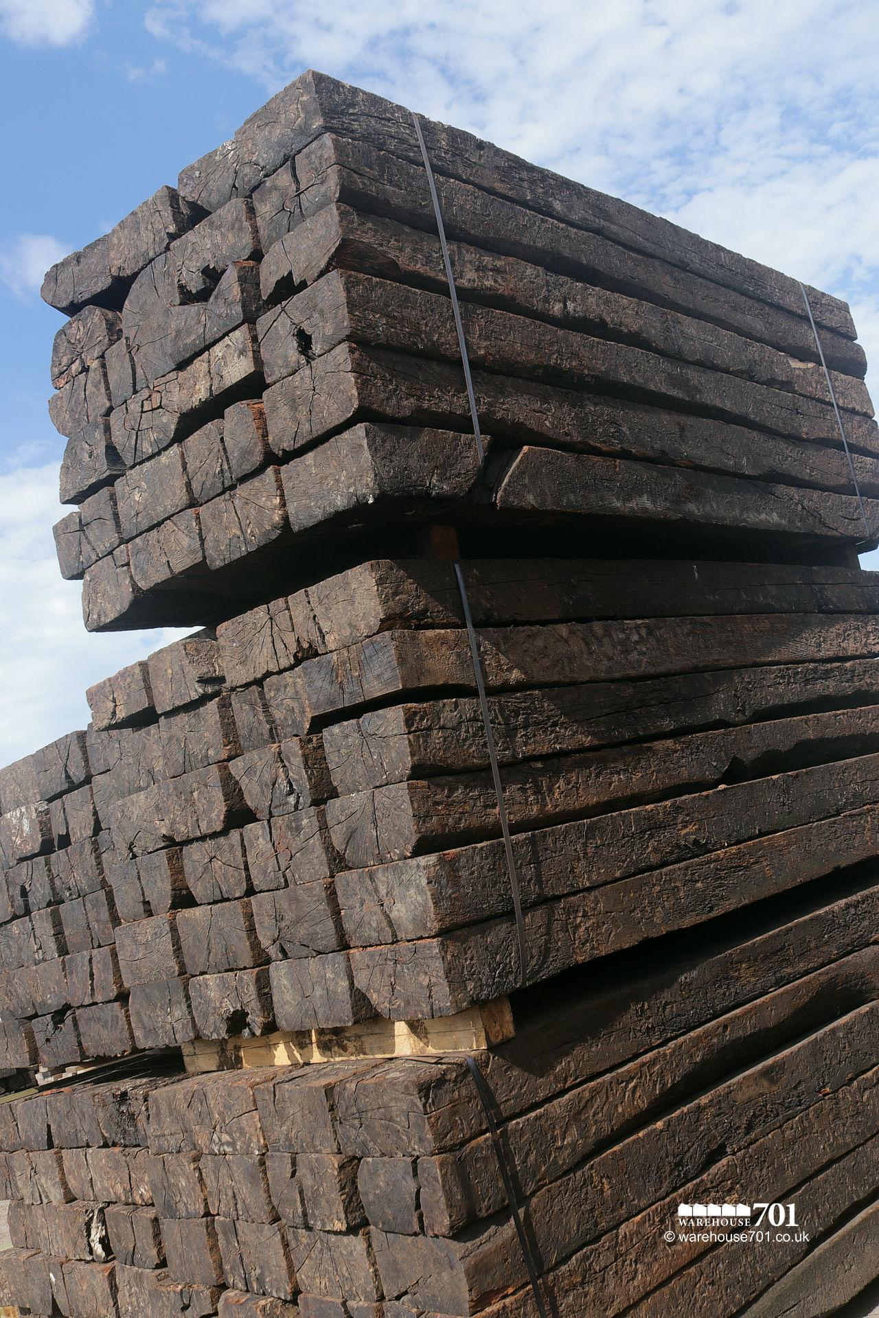 Reclaimed Grade 'B' Railway Sleepers