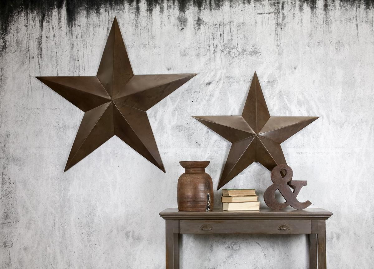 NEW Oversized Industrial Style Metal Iron Star - Small