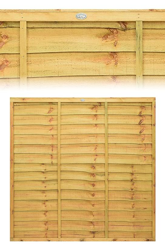 Superior Golden Brown Lap Wood Fence Panel