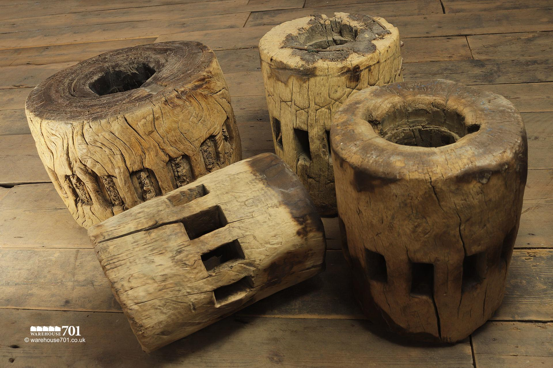 Selection of Reclaimed Elm Waggon Wheel or Cart Hubs #5
