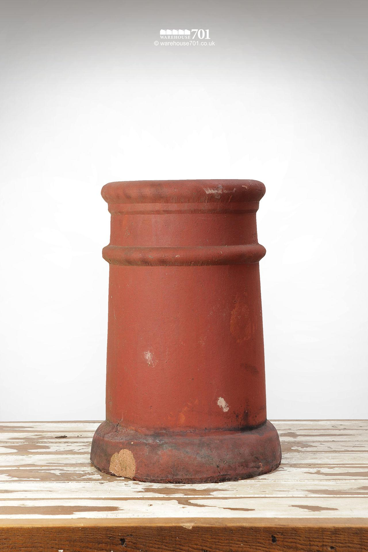 Fine Old Pair of Ribbed Red Terracotta Chimney Pots #3