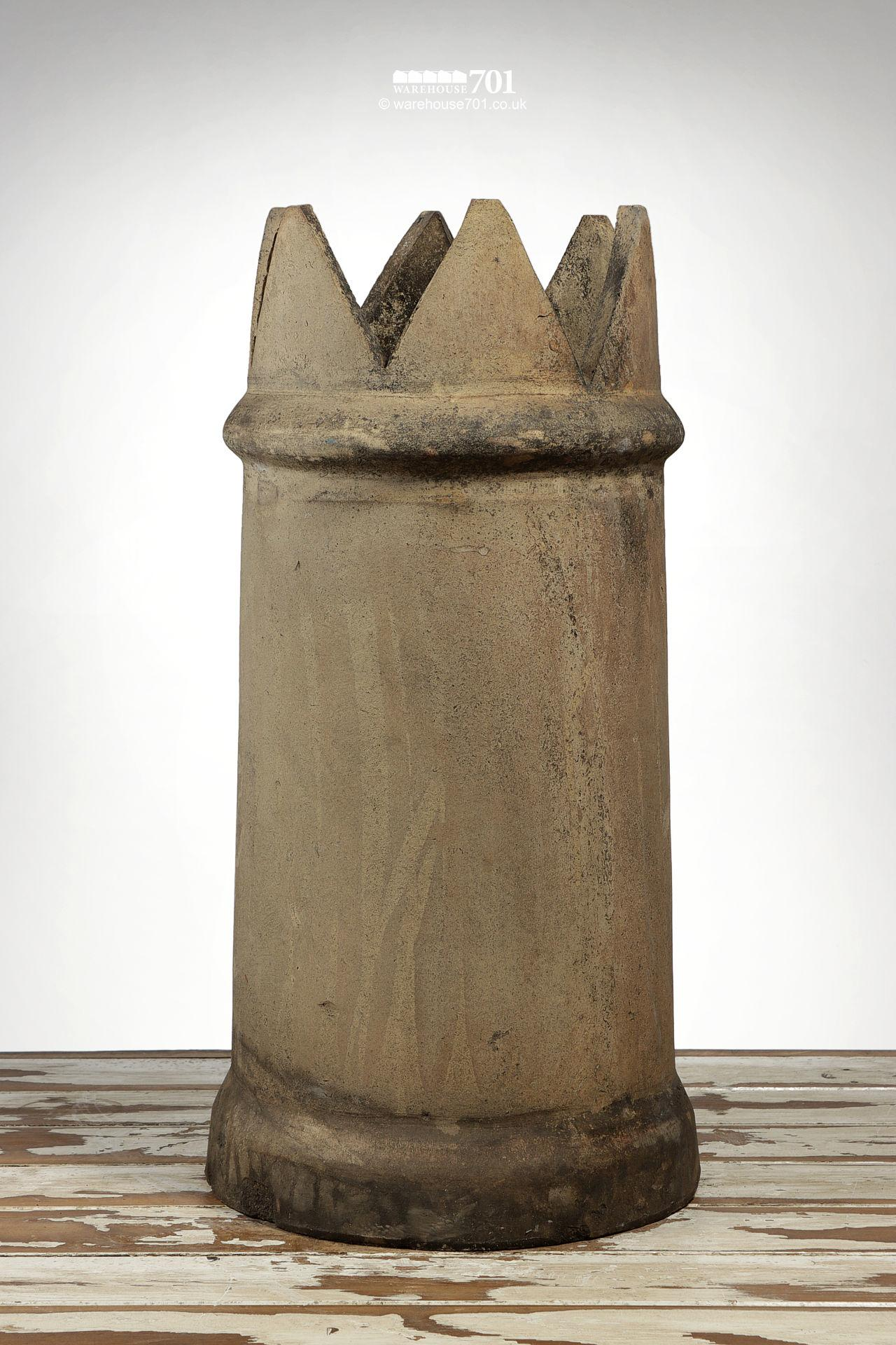 Old Tapered Buff Colour Crown Chimney Pot
