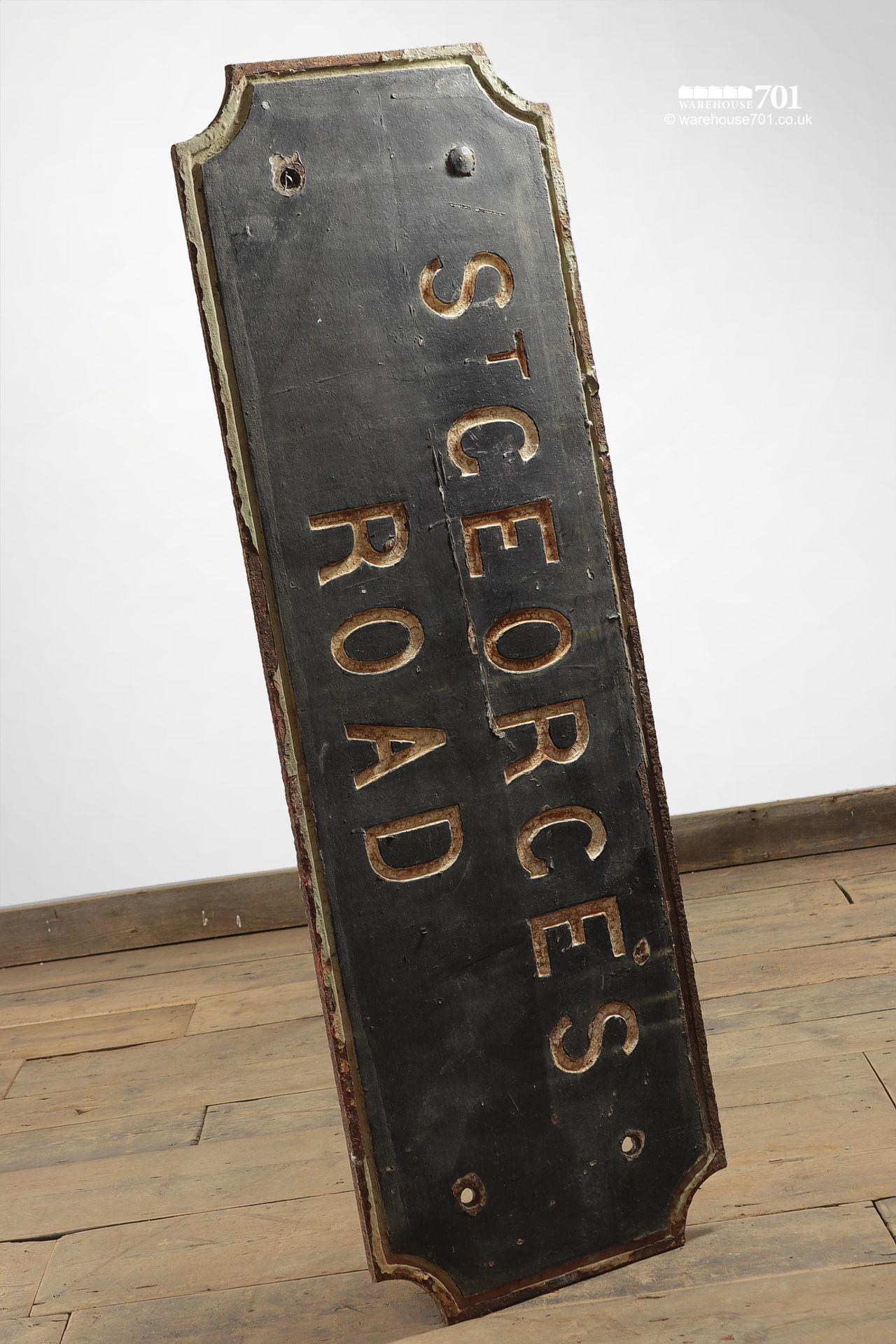 Old Cast Iron St George's Road Sign