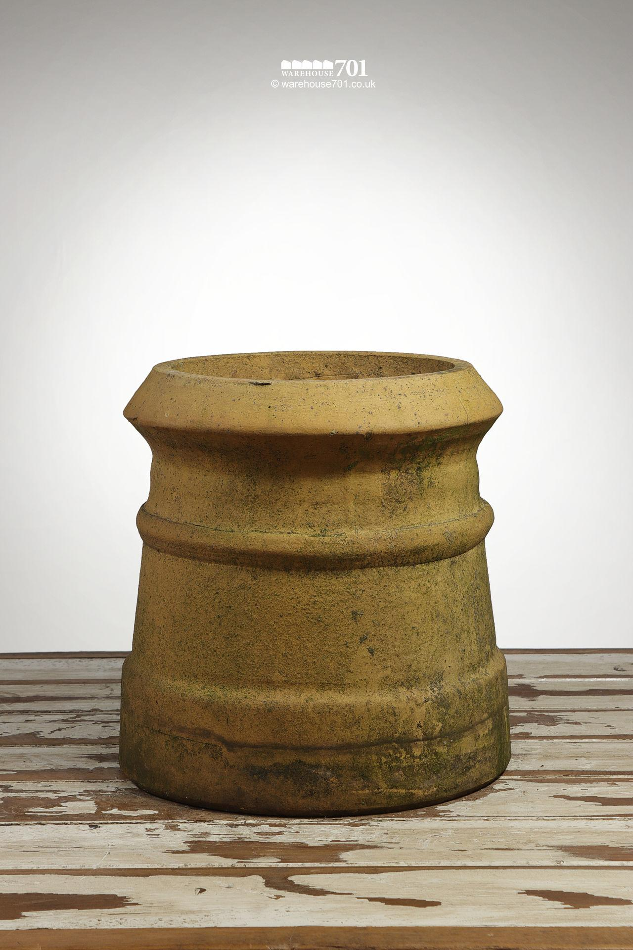 Reclaimed Pair of Small Buff Cannon Chimney Pots #2