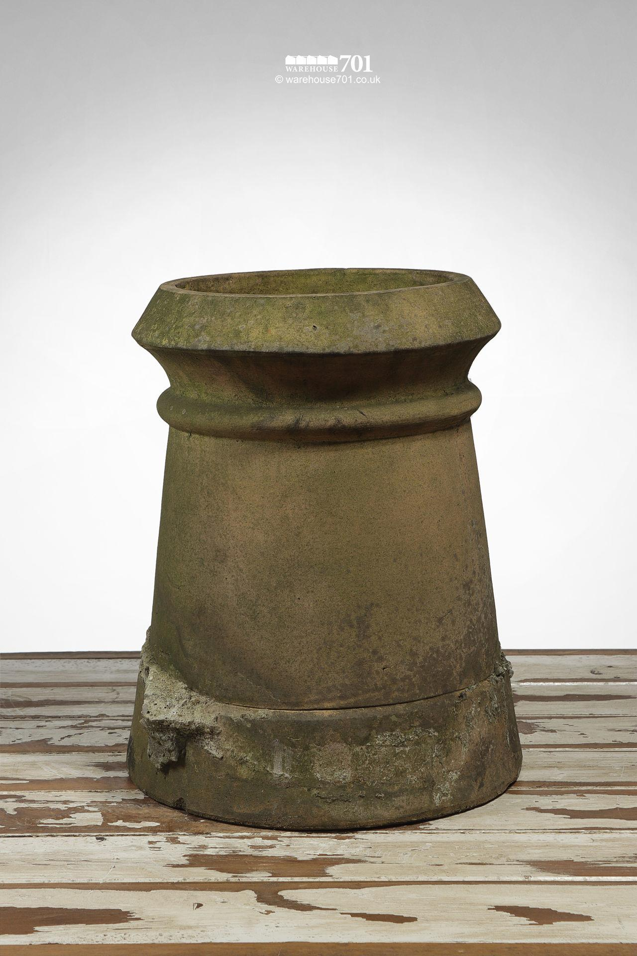 Salvaged Short Buff Cannon Chimney Pot