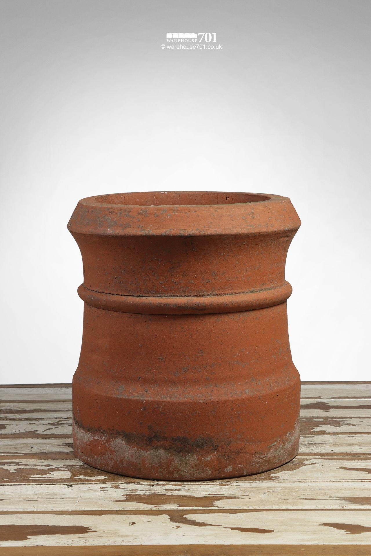 Vintage Terracotta Short Cannon Chimney Pot #2