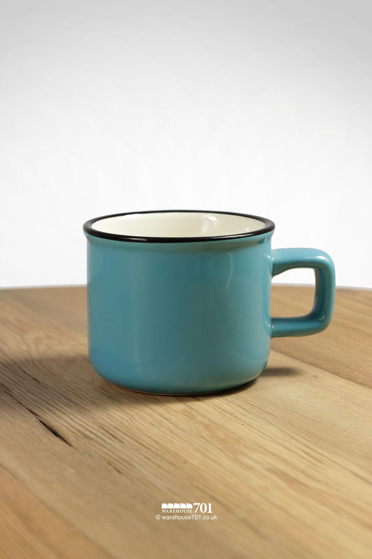 Blue and White Ceramic Espresso Coffee Mug #2