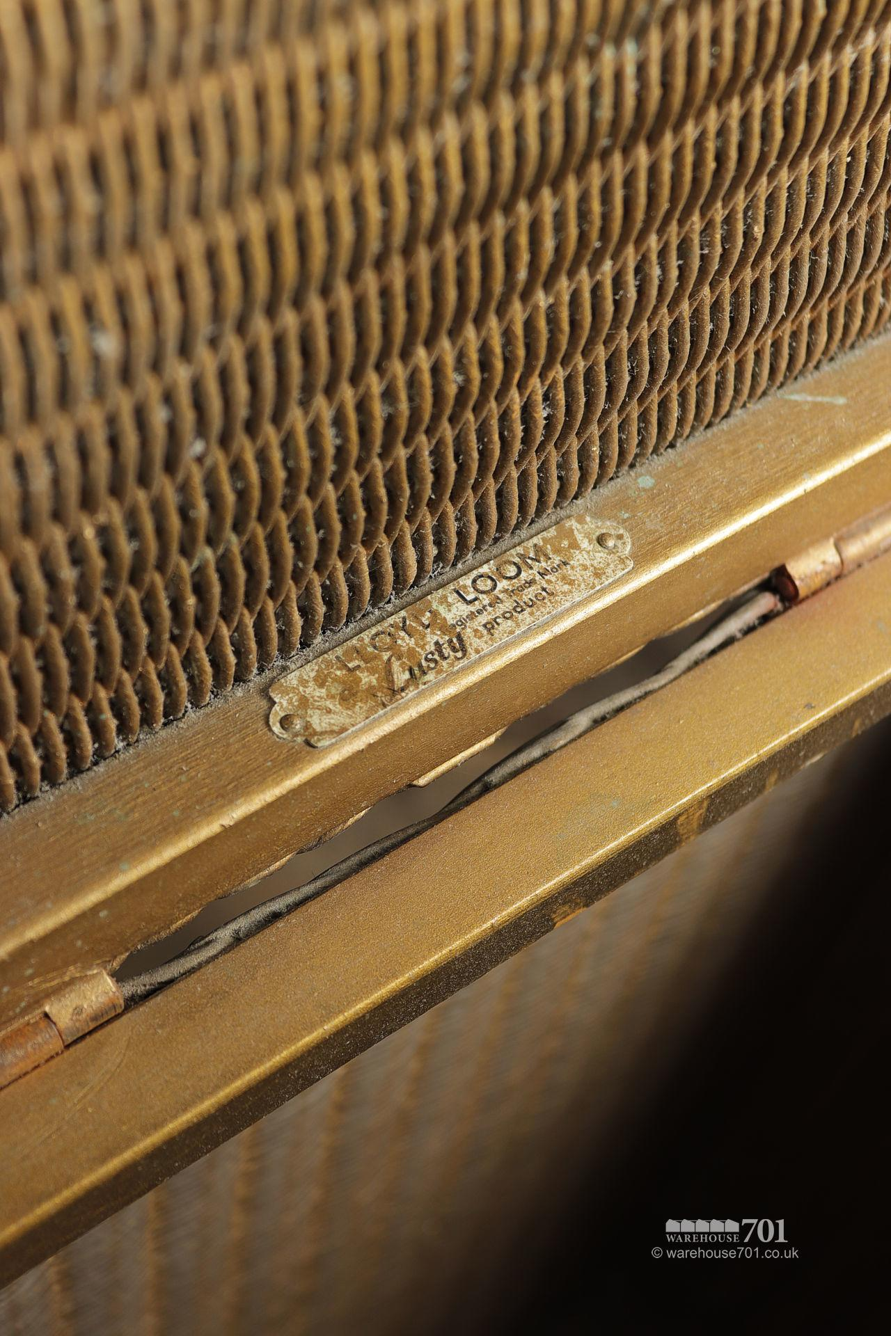 Authentic Period Gold Lloyd Loom Quadrant Laundry Basket