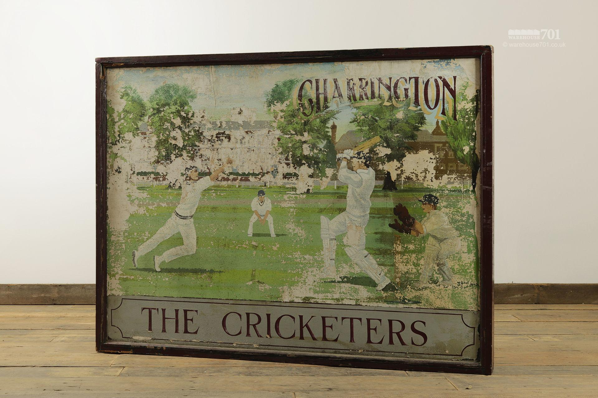 Salvaged Cricketers Double Sided Pub Sign #6
