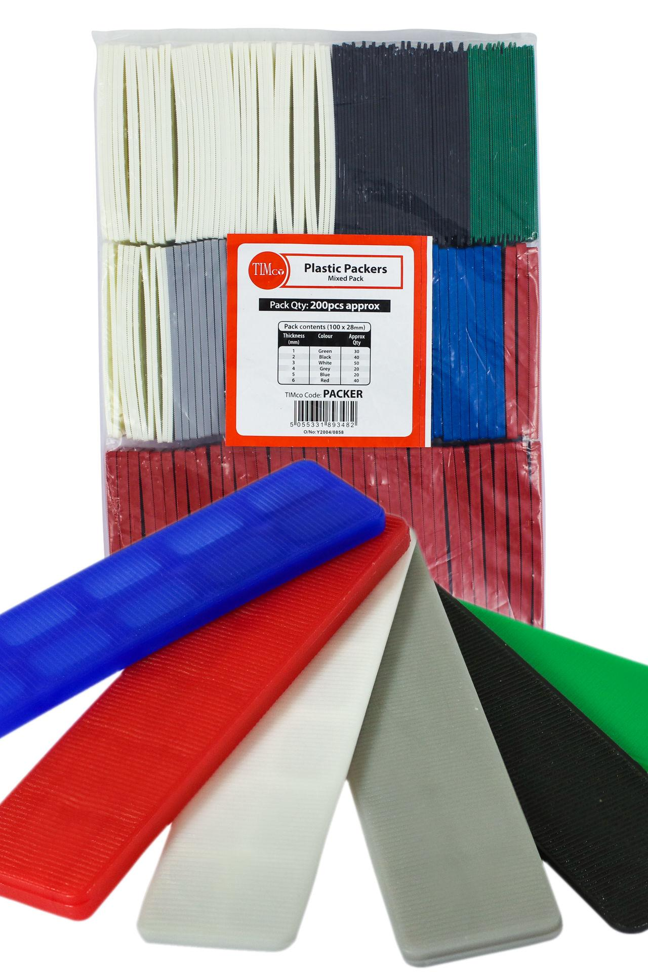 200 Assorted Flat Packers - 1mm - 6mm