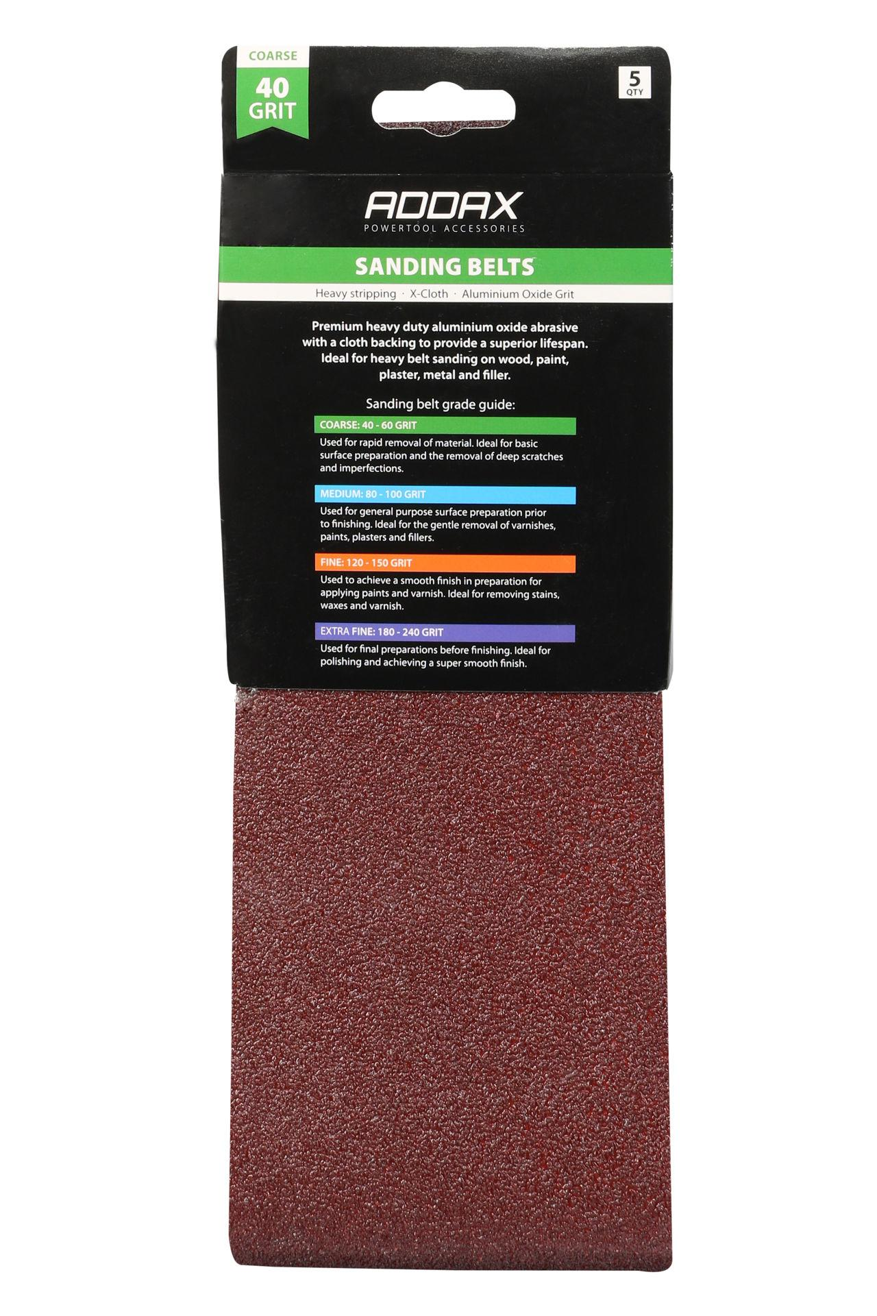 Addax Sanding Belts - Various Grit - Red #2