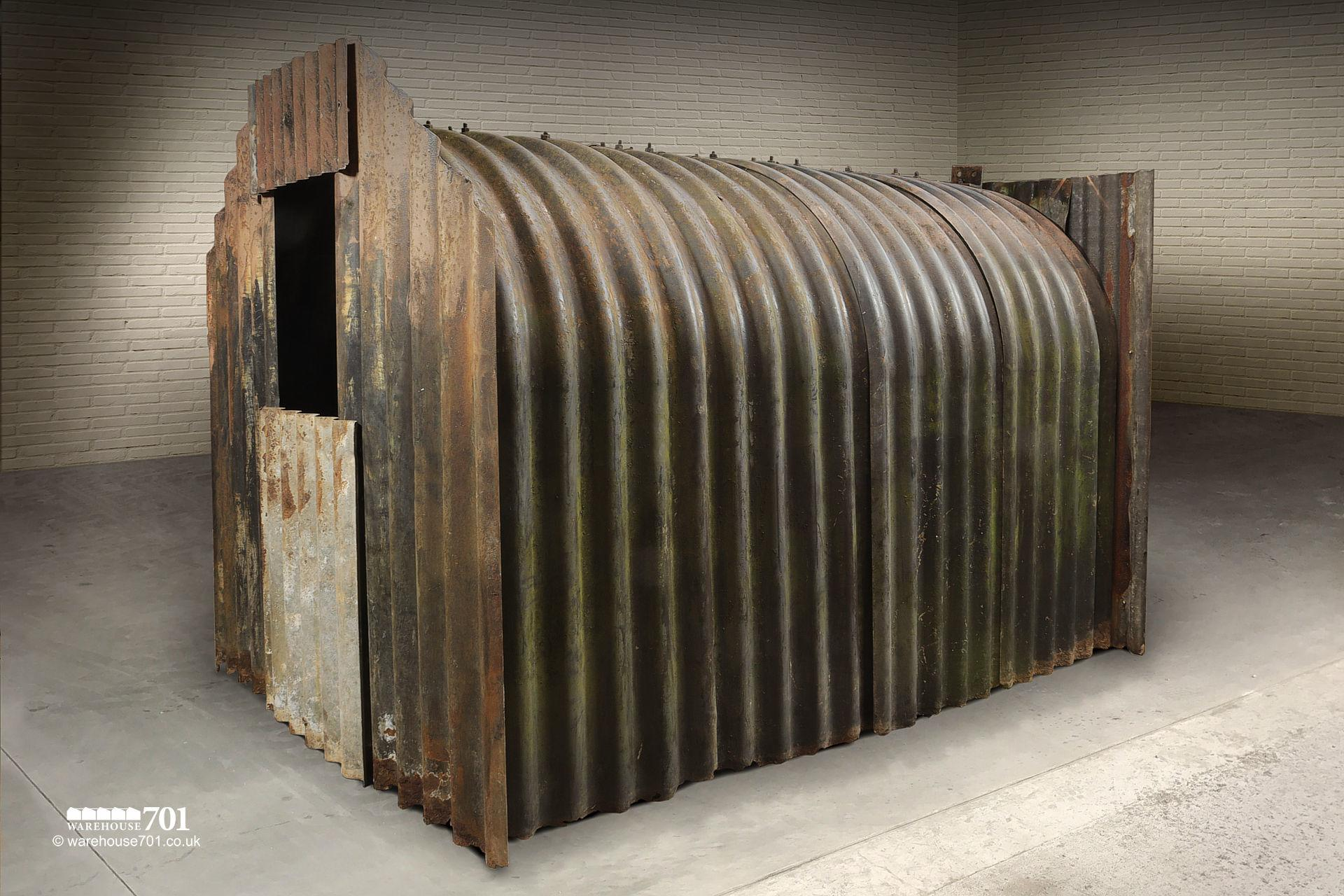 Authentic WW2 Corrugated Iron Anderson Air-Raid Shelter #3