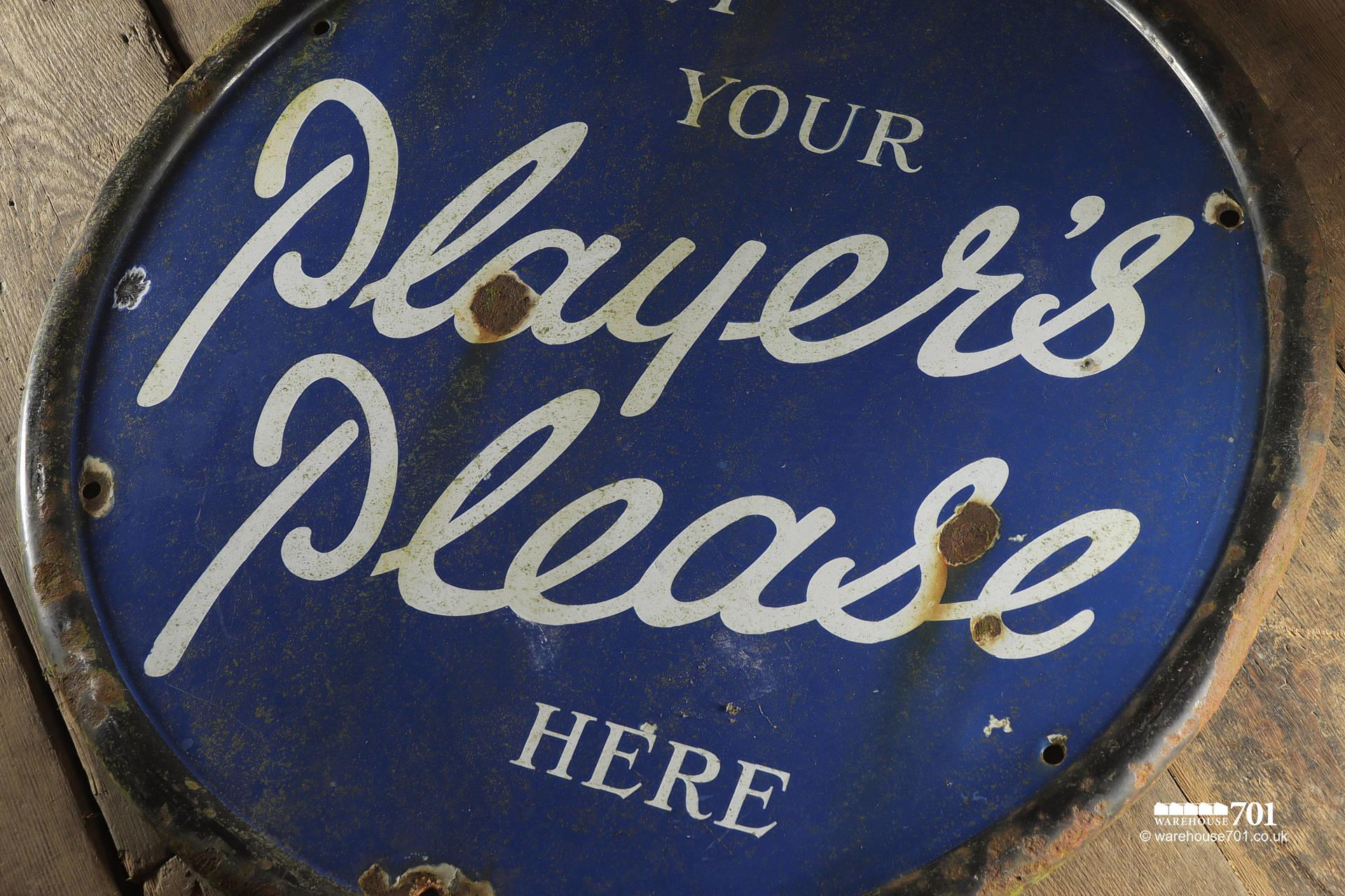 Reclaimed Round Metal Players Please Sign #4