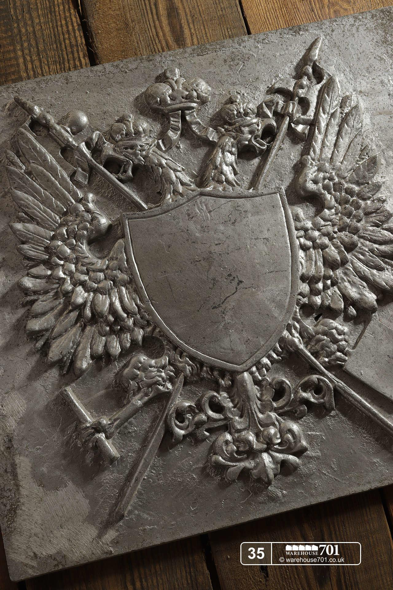 Aluminium Foundry Castings of Heraldic Crests (No's 35, 36, 37) for Shop, Retail and Home Display #4