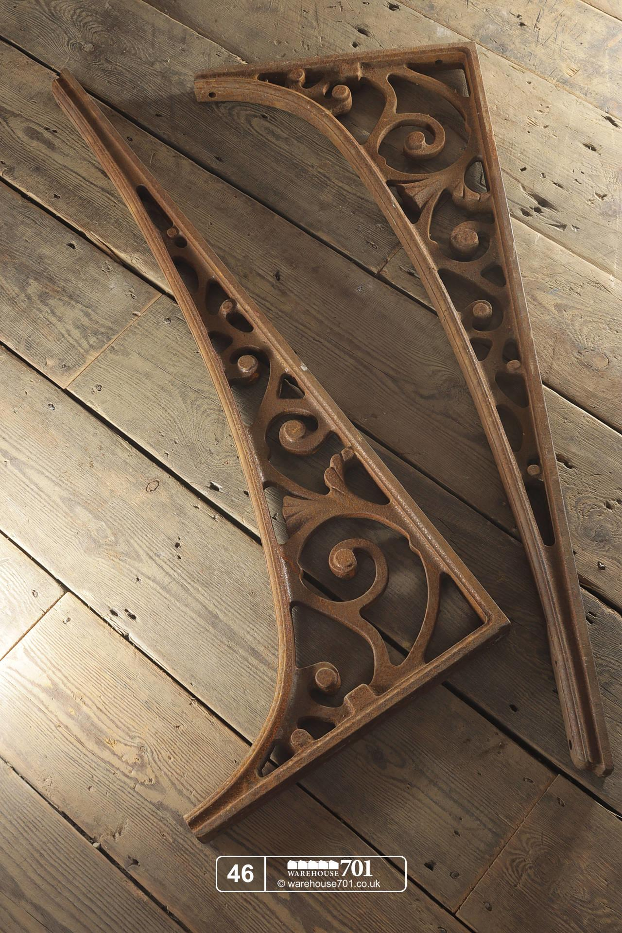 Very Large Salvaged Cast Iron Brackets from Foundry (No. 46) #2