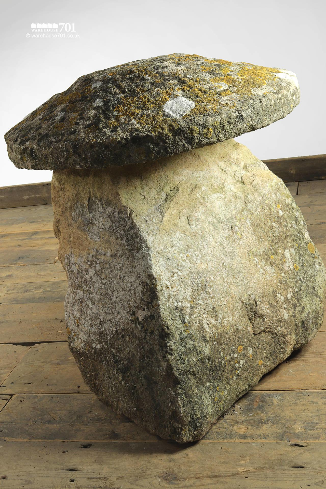 Character Salvaged Hand Carved Staddle Stone #3