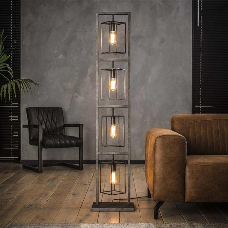 Industrial Floor Lamp 4 Bulb