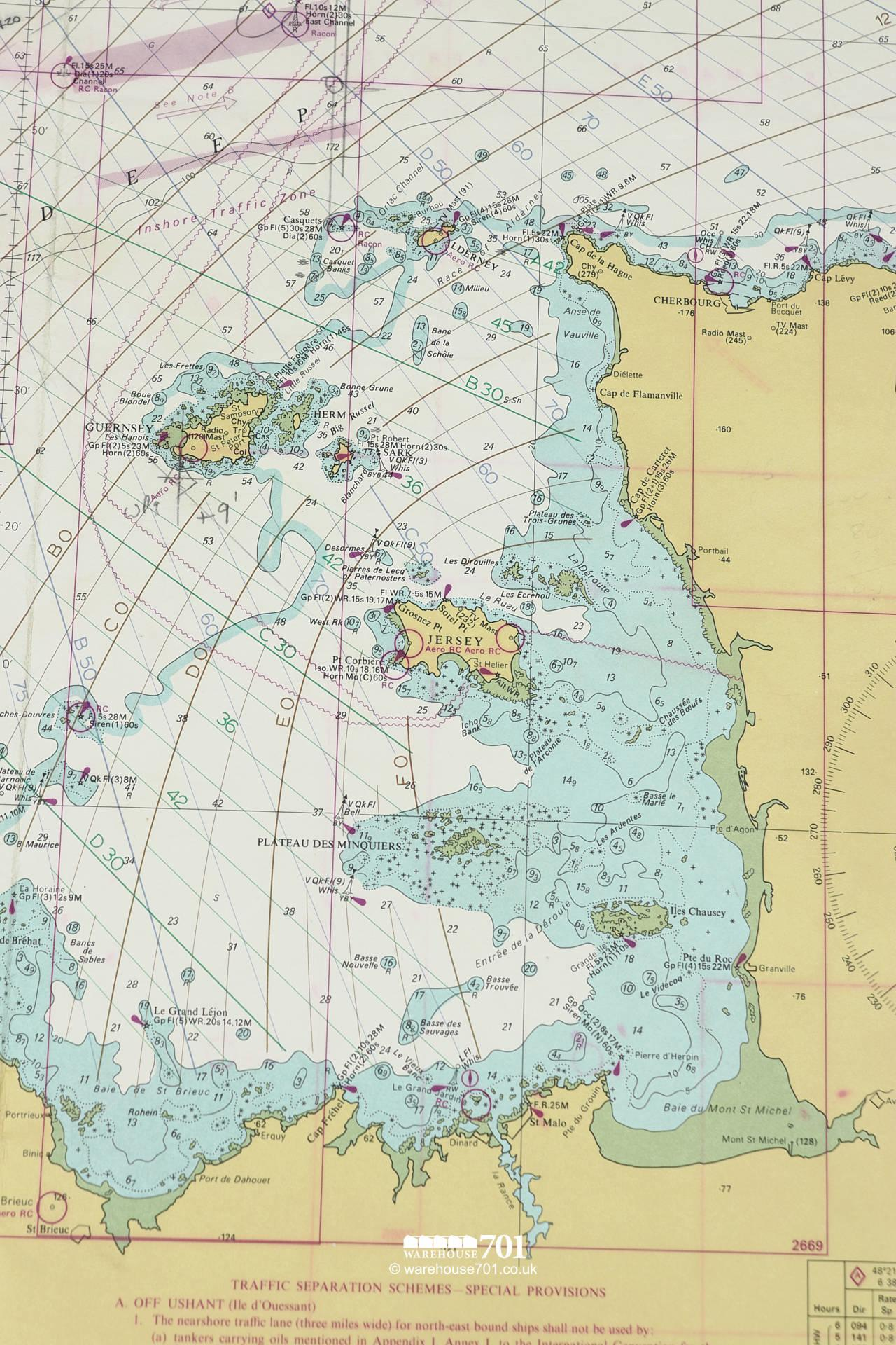 Extensive Collection of Original 1960s Nautical Charts From Around The World #7