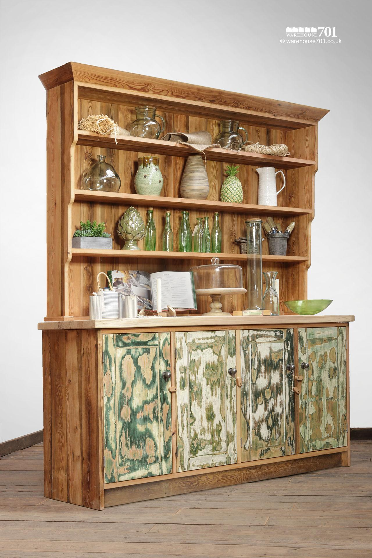 Remarkable Reclaimed Beech and Pine Country Dresser #2
