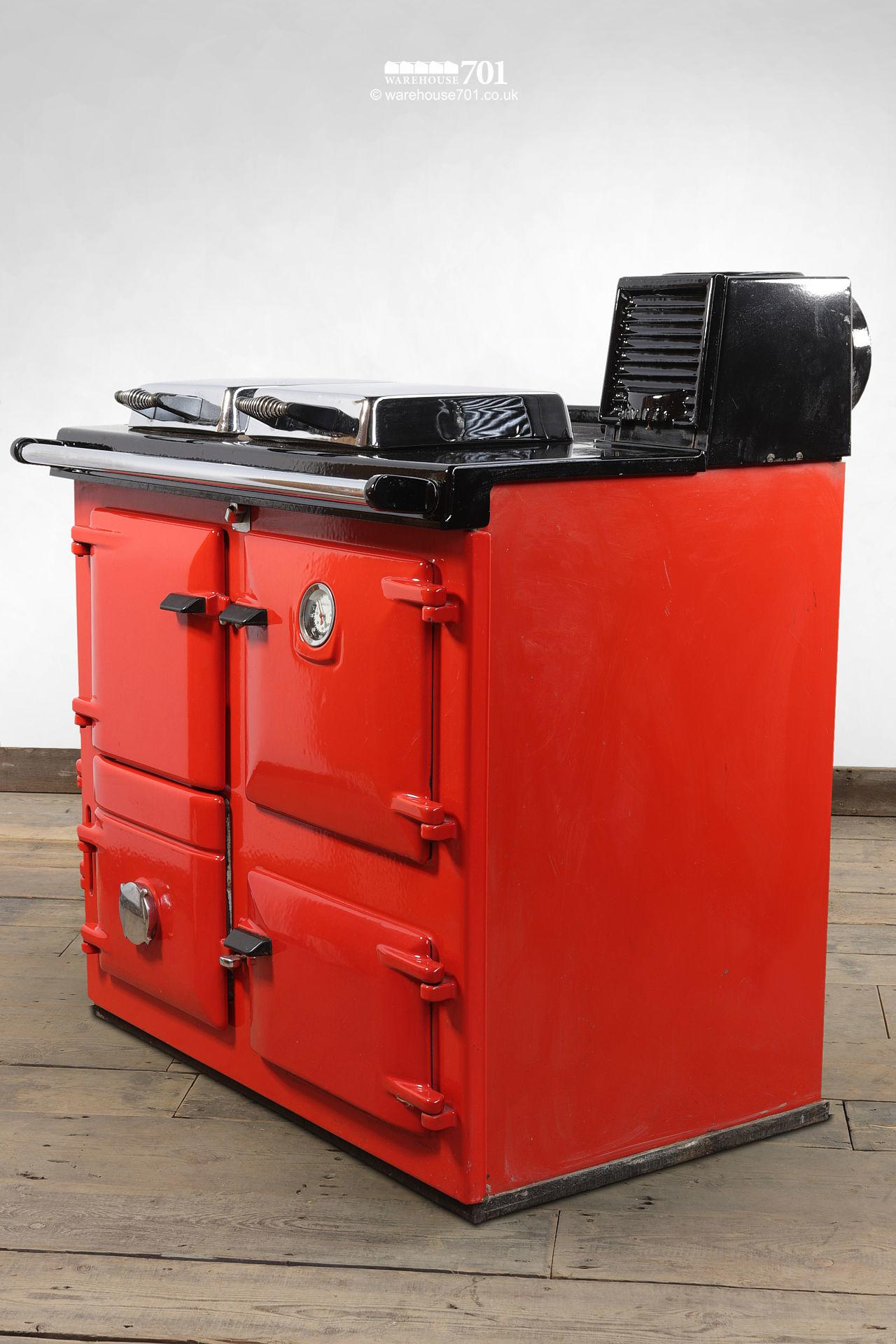 Fine Used Red Rayburn Nouvelle Cooker or Stove #3
