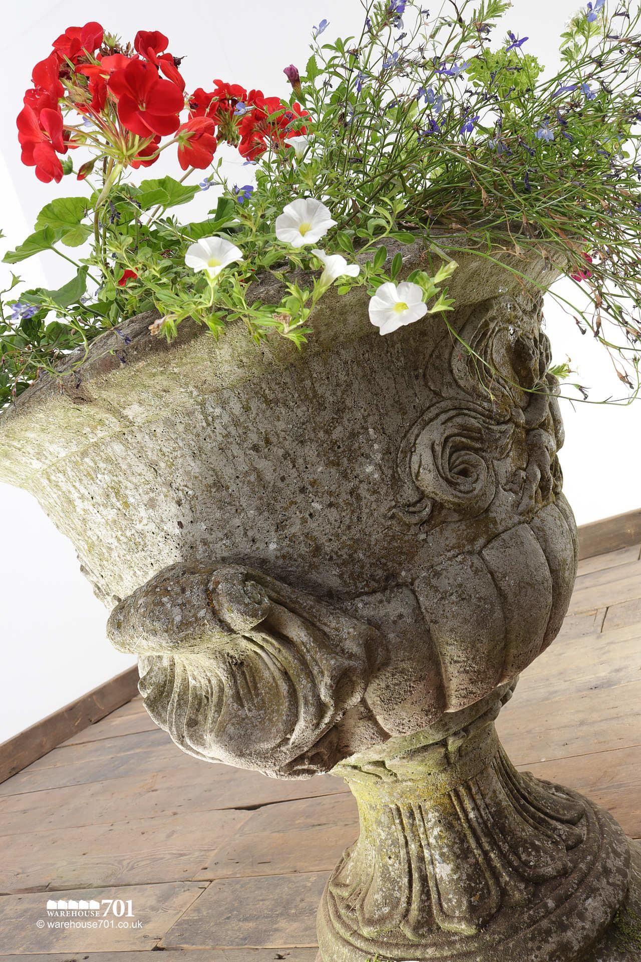 Salvaged 20th Century Decorative Urn with Cherubs #4