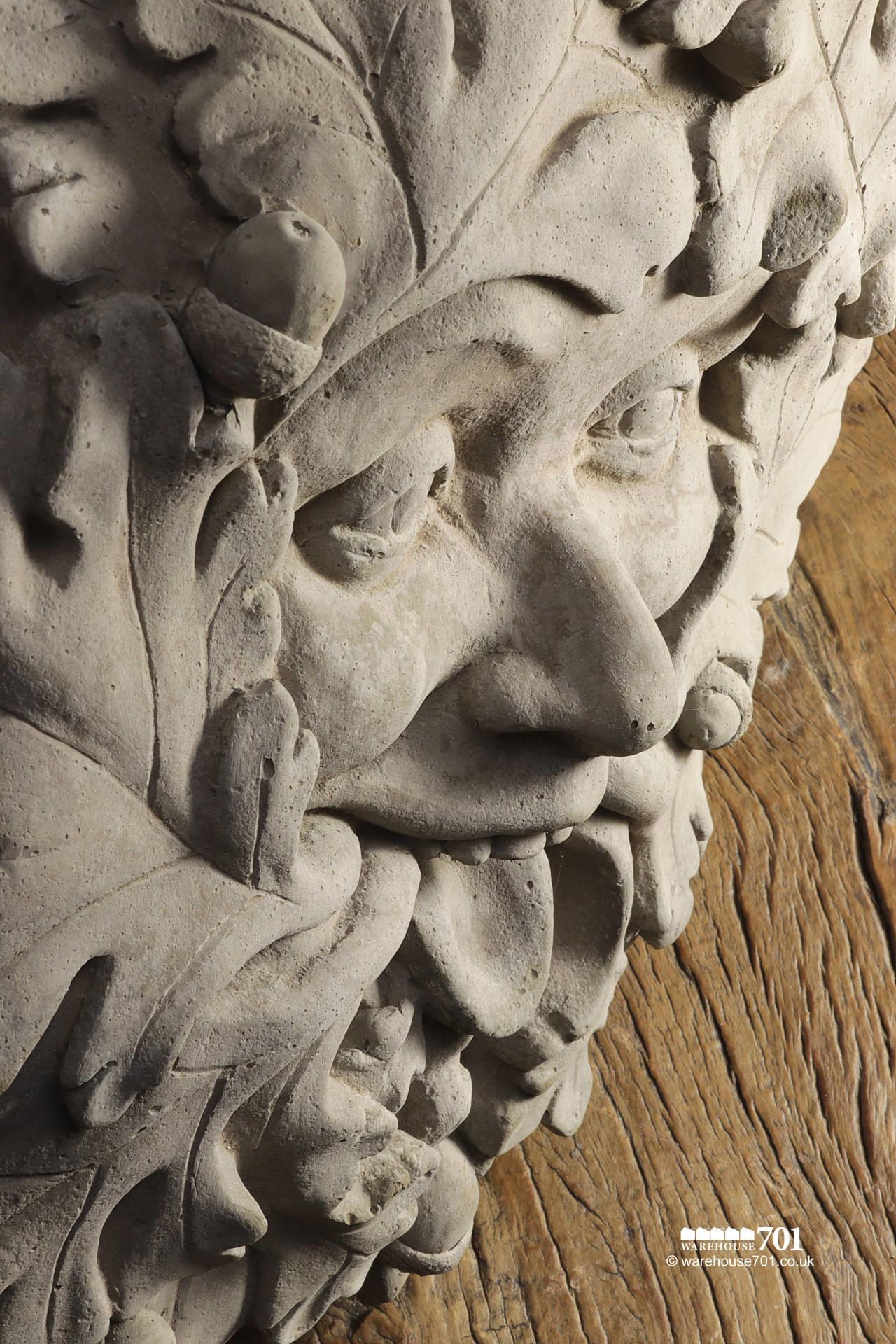 New Cast Stone The Green Man Garden Ornamant #3
