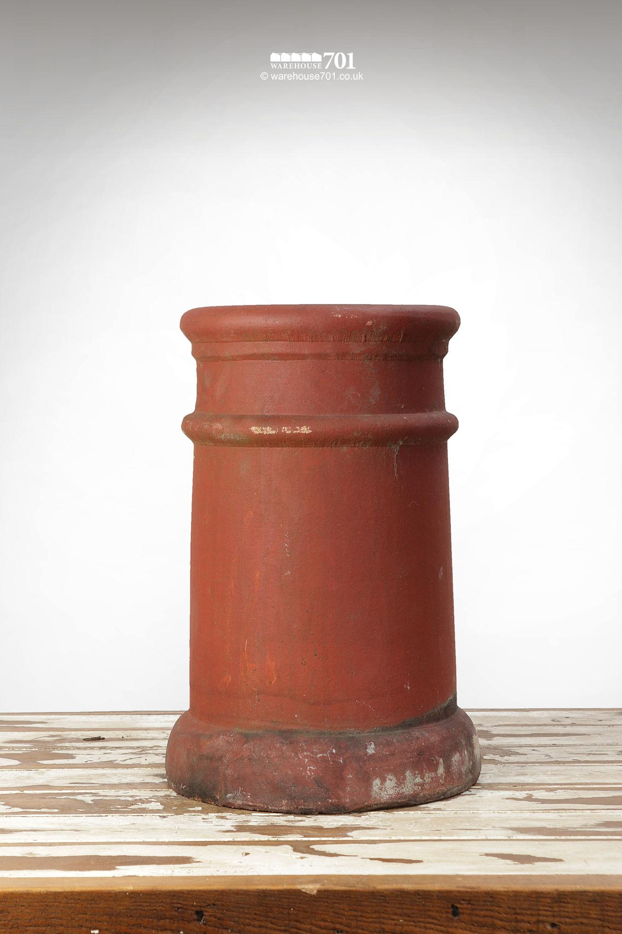 Fine Old Pair of Ribbed Red Terracotta Chimney Pots #4