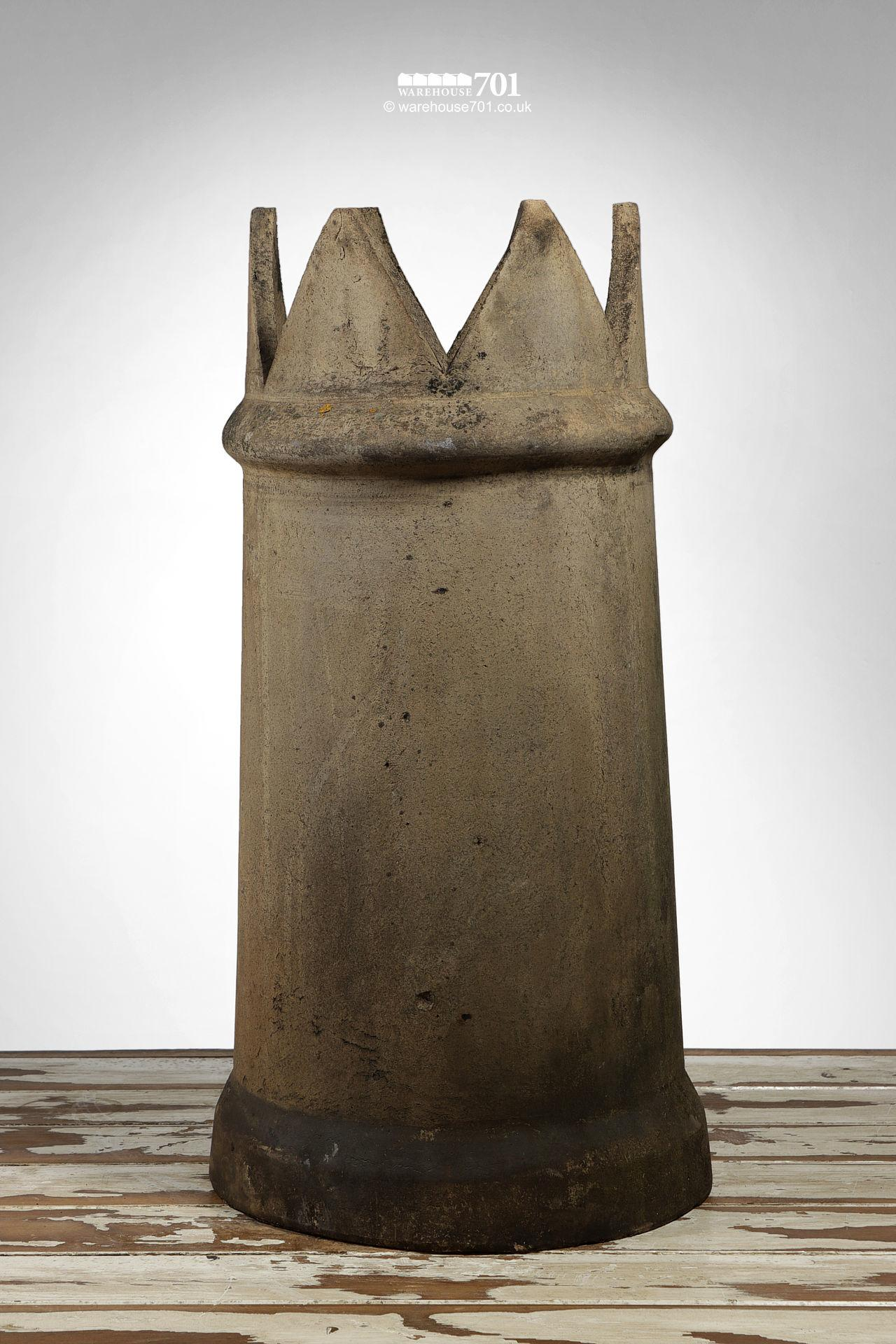 Old Tapered Buff Colour Crown Chimney Pot #2
