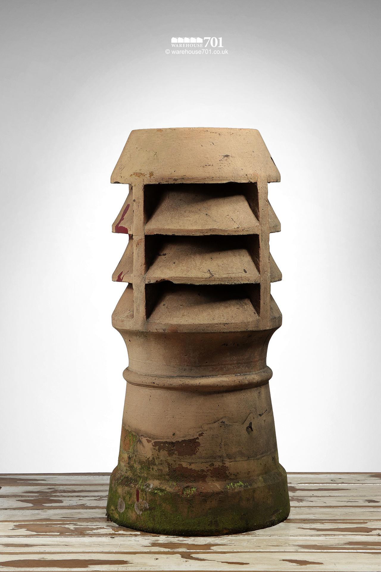 Reclaimed Buff Triple Louvre Chimney Pot