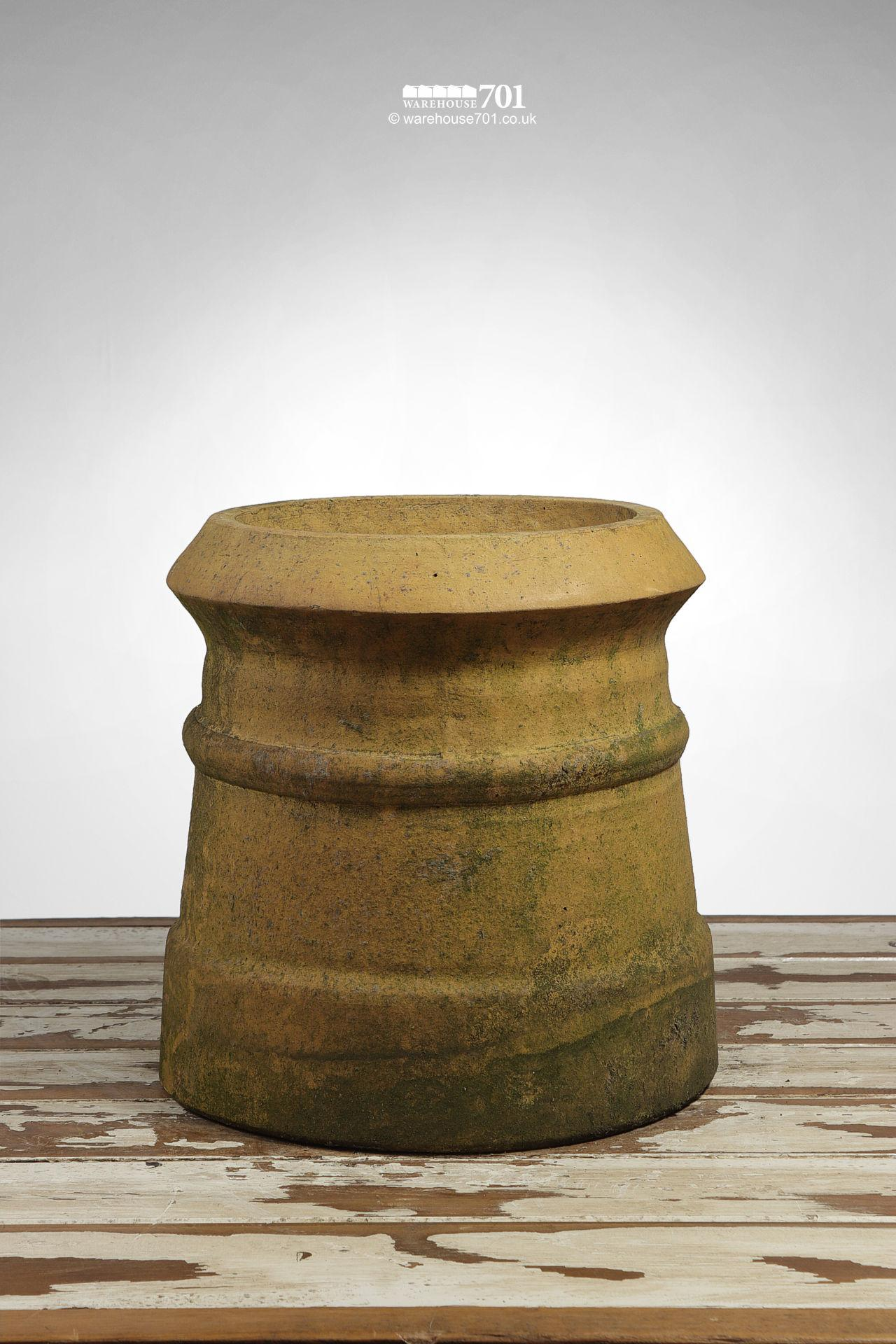 Reclaimed Pair of Small Buff Cannon Chimney Pots #3
