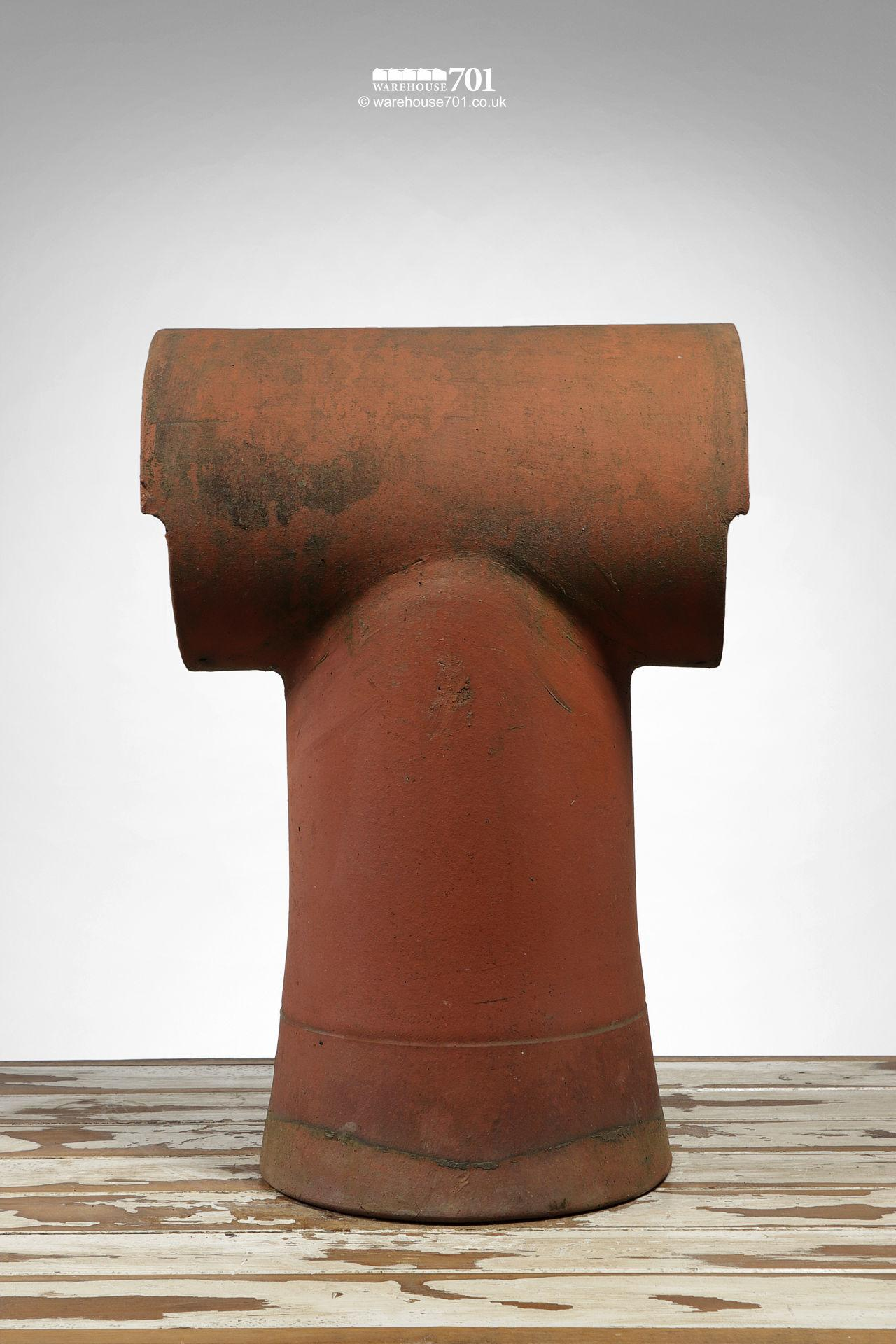 Reclaimed Tee-Top Terracotta Chimney Pot